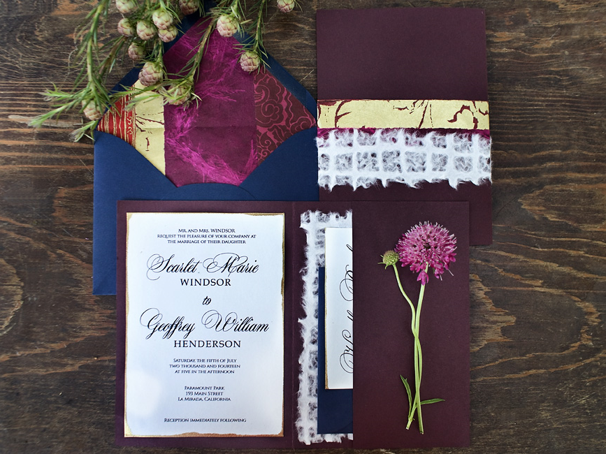 Bohemian invitation suite, photography by Katie Beverley.