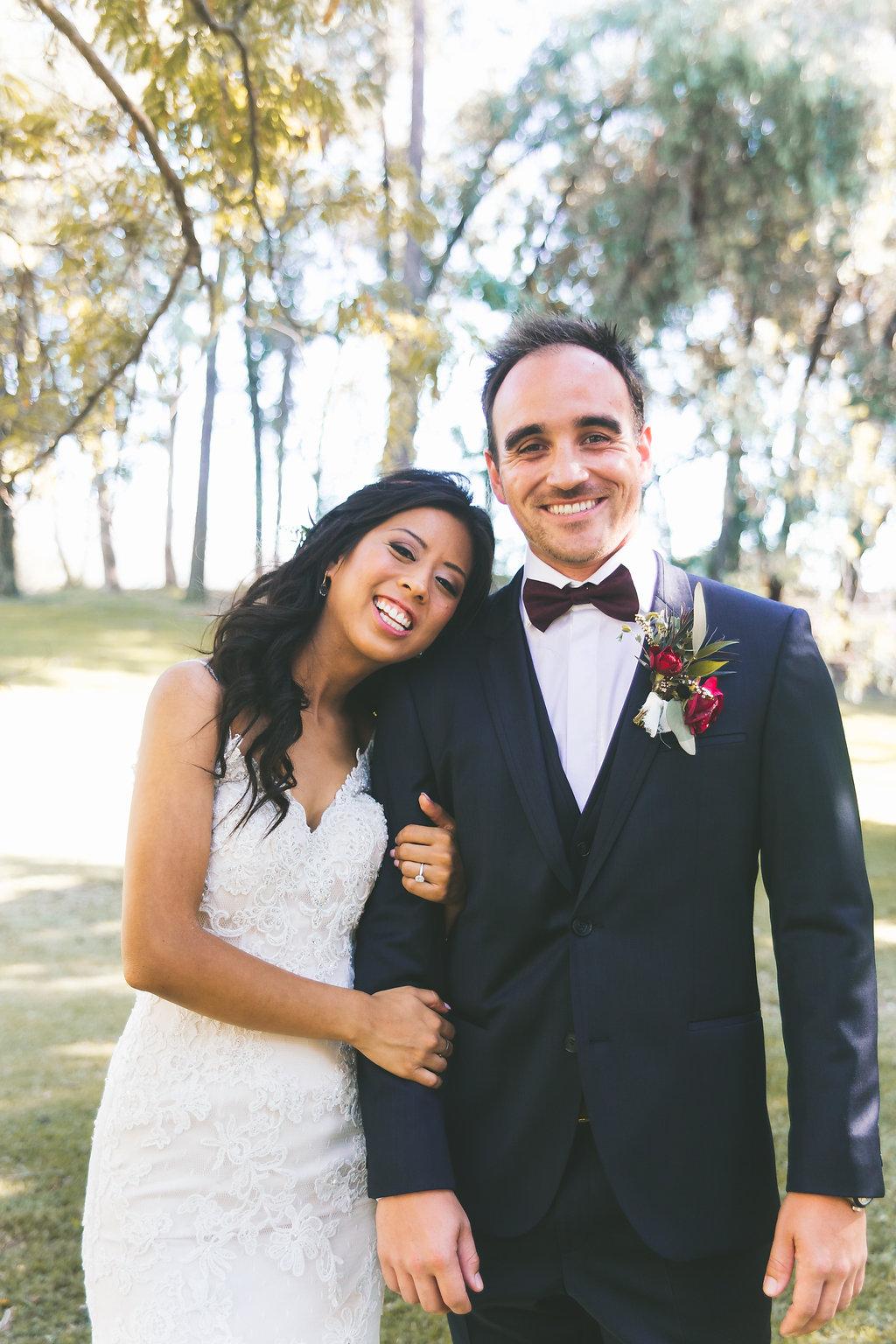 Temecula Creek Inn Moody burgundy & marsala wedding by San Diego wedding florist, Compass Floral.