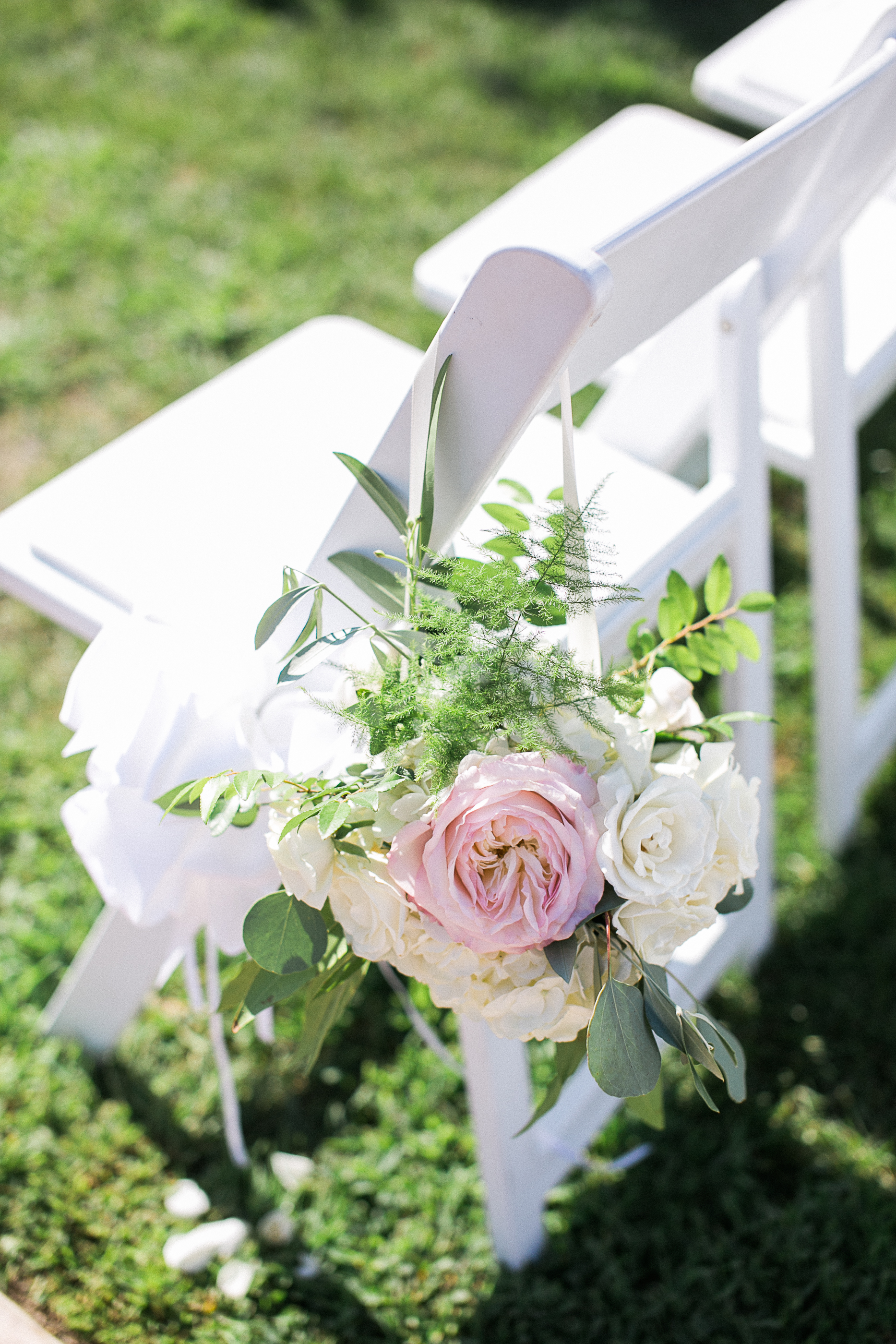 Blush & ivory ceremony aisle decor by San Diego Florist, Compass Floral.  Brandi Welles Photography