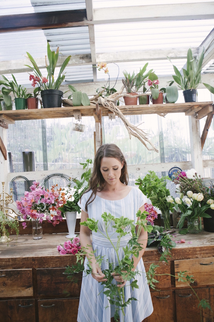 Compass Floral studio. Photography by Ashley Williams.