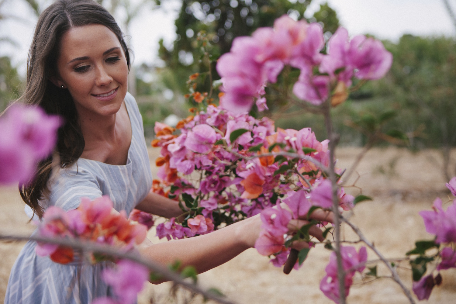 Taya Glynn lead designer & owner of Compass Floral. Photography by Ashley Williams.
