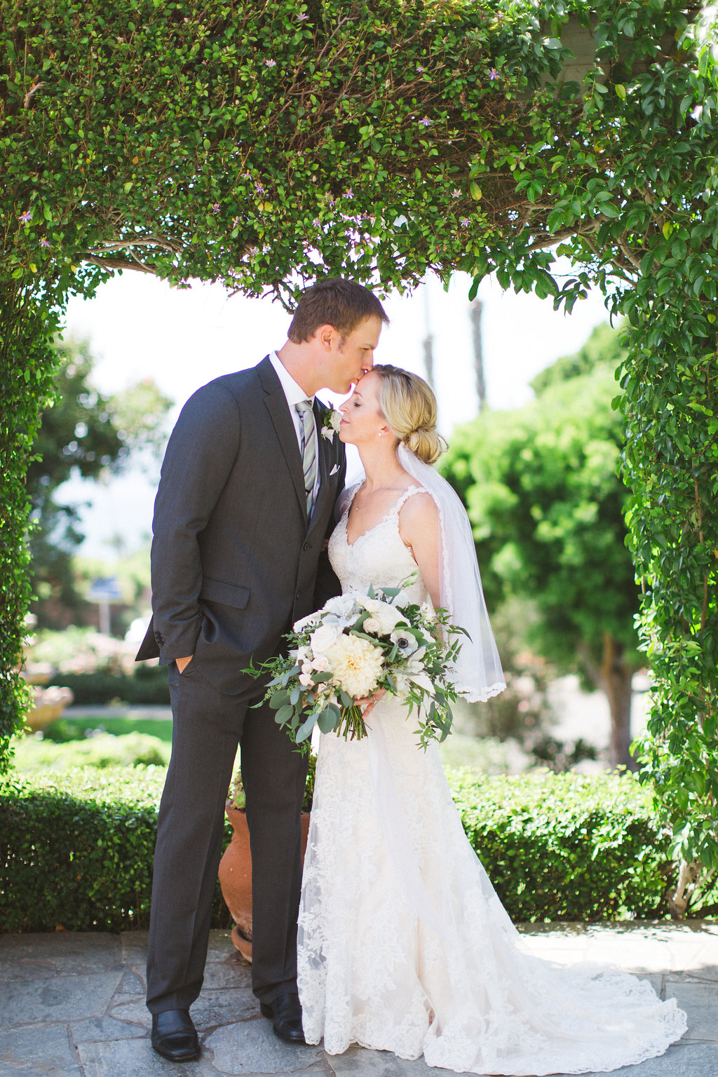 The Thursday Club Blush & ivory, garden romantic wedding   by San Diego wedding florist, Compass Floral.
