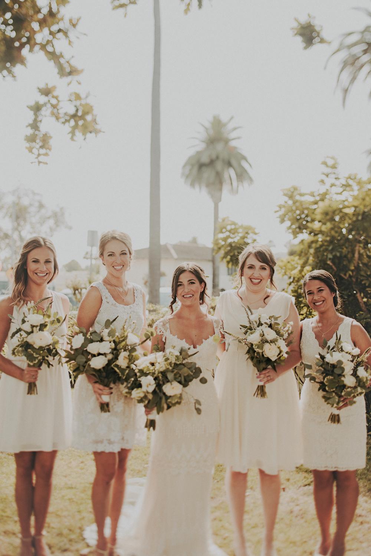 Herb bridal bouquet   by San Diego wedding florist, Compass Floral.