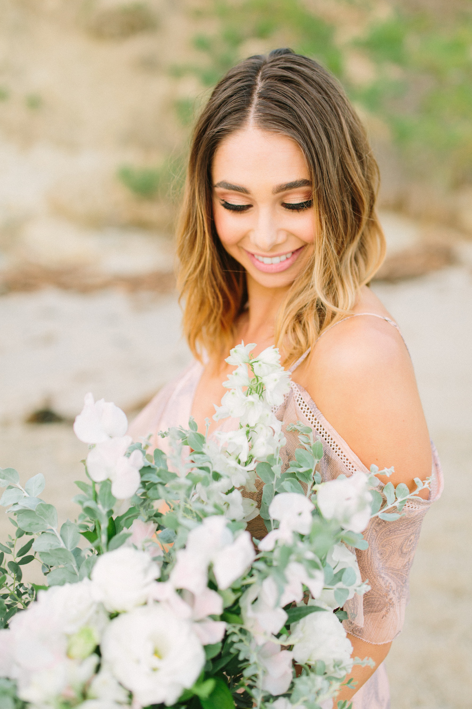 Bachelor contestant Sarah Vendal summer fun beach styled shoot. Bouquet by Compass Floral.  Design & Planning // Events by Talissa Photographer // Garrett Richardson
