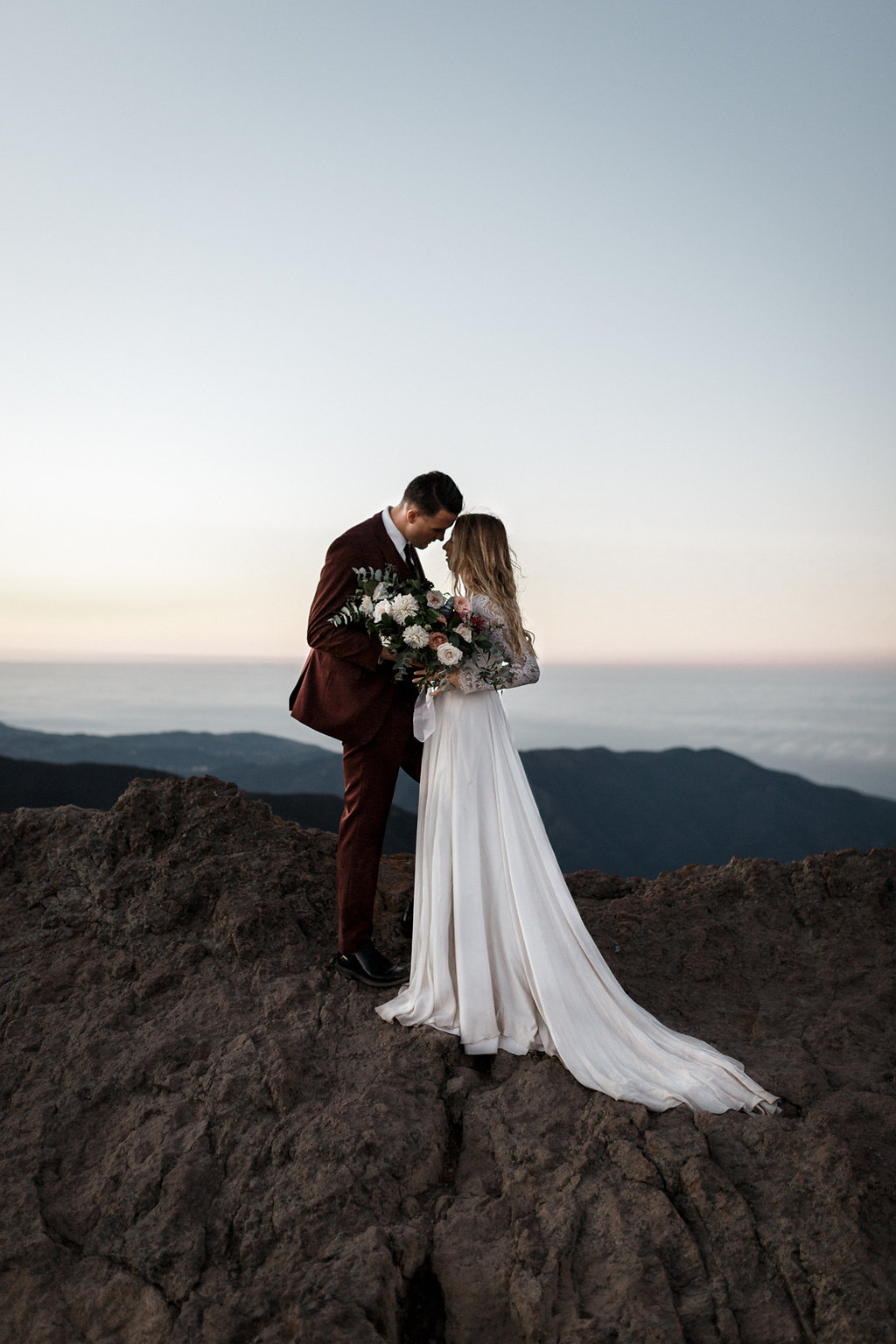Sunrise Malibu Elopement | Malibu Mountains Weddings | Compass Floral Design | Wedding Florist in San Diego and Southern California | Devin Jenkins Photography #elopement   #elopementinspiration   #wedding   #weddinginspiration   #bohowedding   #bohemianwedding   #weddingceremony   #outdoorceremony  #sandiegoweddingflorist   #romanticweddingflowers   #bridalstyle   #weddingfashion