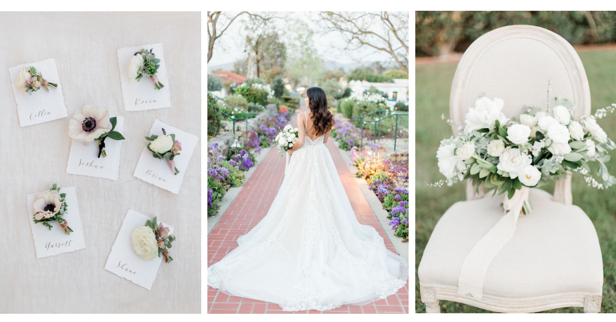 Romantic garden wedding | The Inn at Rancho Santa Fe | Compass Floral | Wedding Florist in San Diego and Southern California | Devon Donnahoo Photography