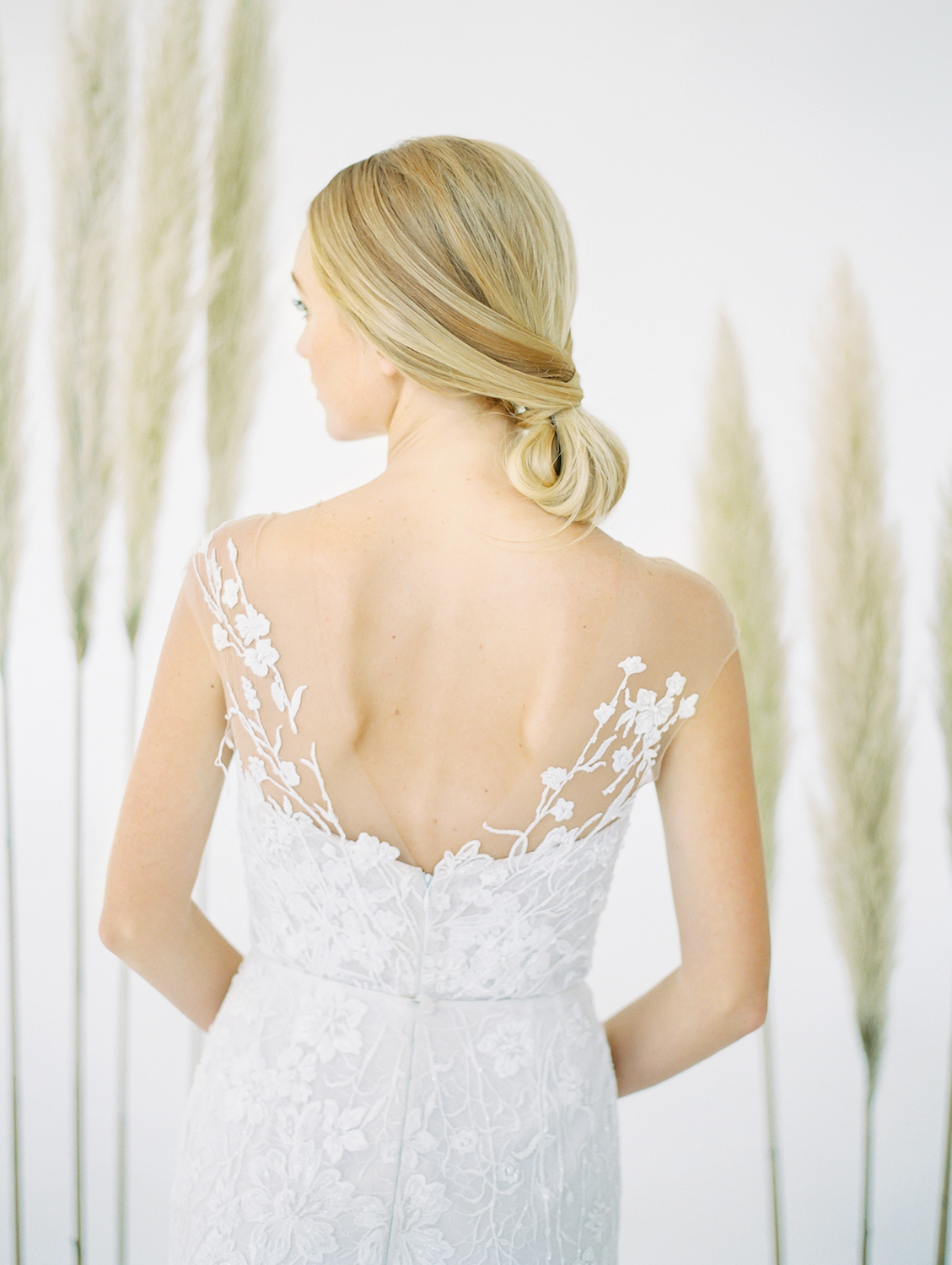 Low loose bun bridal hair | Studio 710 | Compass Floral | Wedding Florist in San Diego and Southern California | Dear Lovers Photography