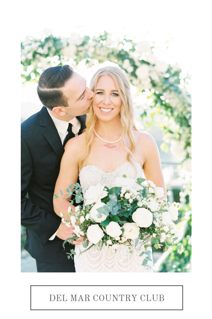 Classic green, white & ice blue wedding | Del Mar Country Club | Compass Floral | Wedding Florist in San Diego and Southern California | Cavin Elizabeth Photography
