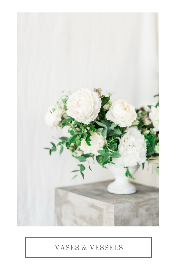 White rose centerpiece   Compass Floral   Wedding Florist in San Diego and Southern California