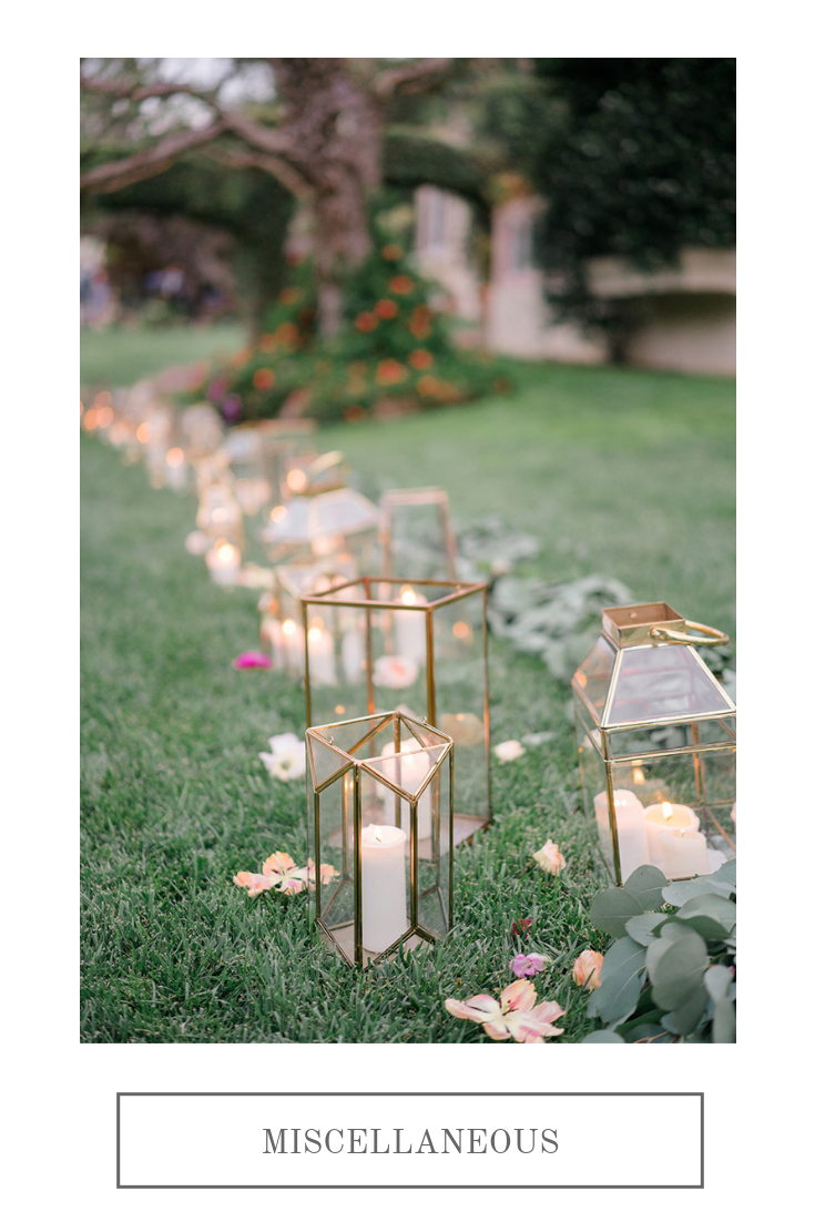 Lantern pathway   Compass Floral   Wedding Florist in San Diego and Southern California