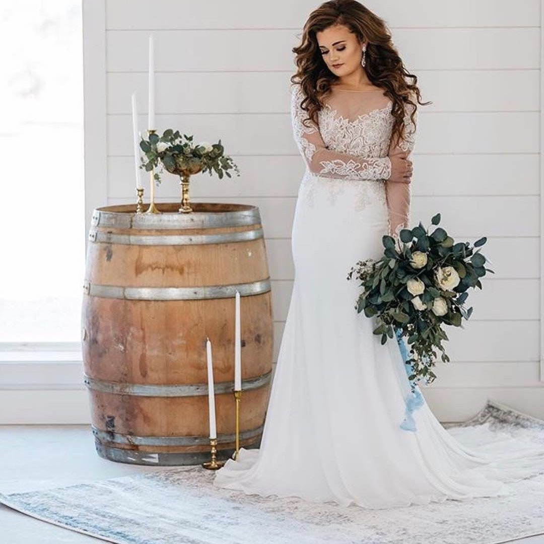 Glamorous and sophisticated designs by Justin Alexander. Collection available at Bon Bon Belle Bridal.