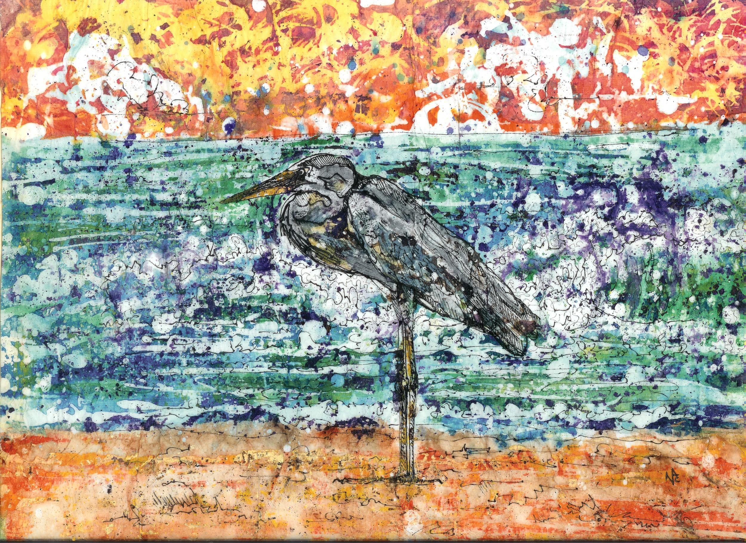 """Beach Heron"""