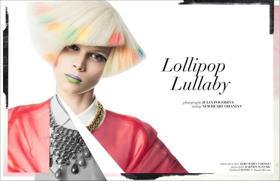 "Katrin Schnabl Collection featured in the ""Lollipop Lullaby"" online editorial for Vestal Magazine"