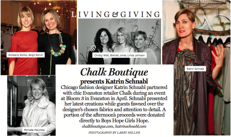 Partnered Event with Chalk Boutique in  Sheridan Road Magazine