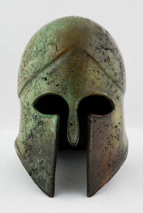Enemies often wore helmets to conceal their true identities, to intimidate their opponents, and to protect their heads...
