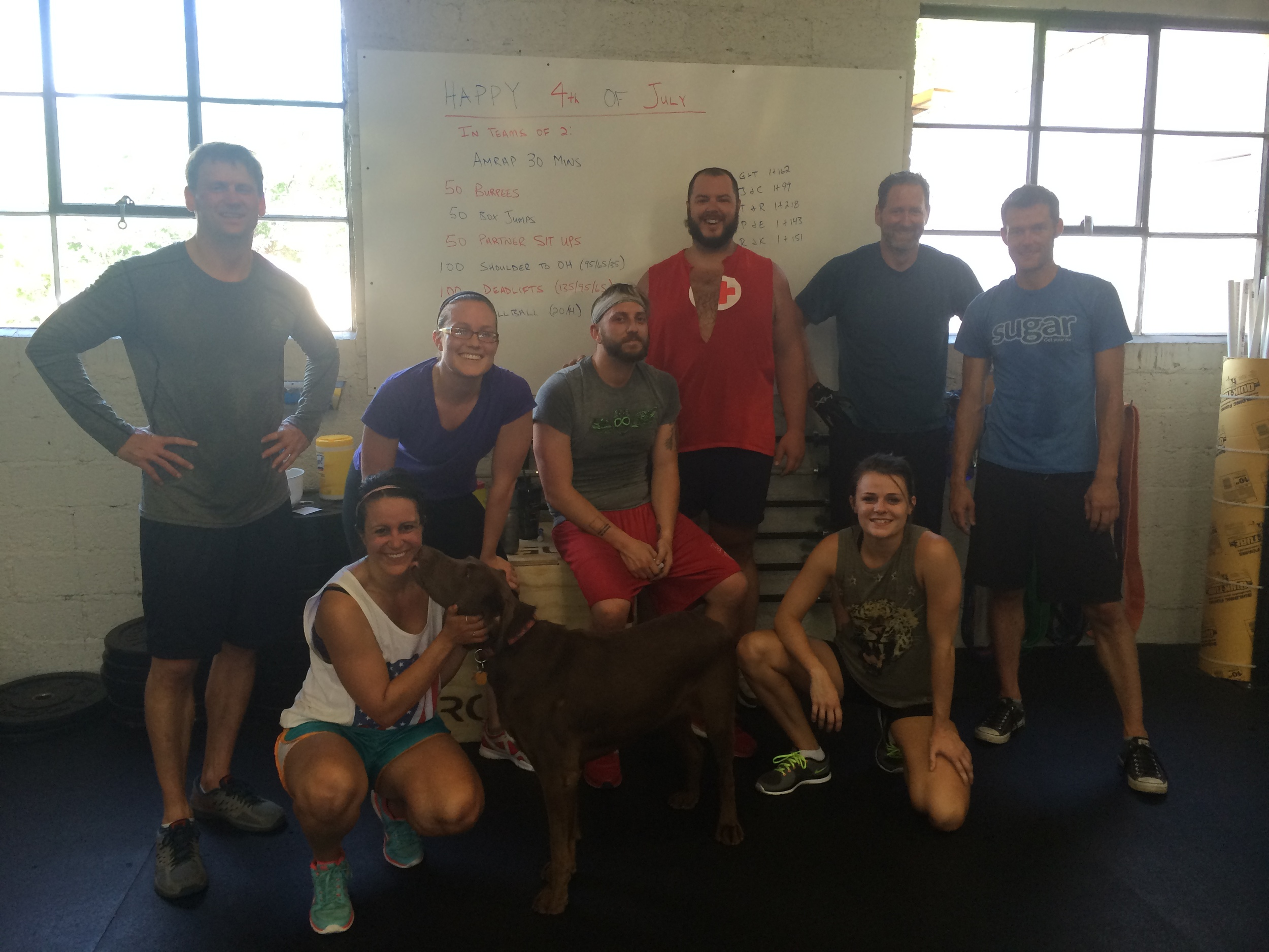 Independence Day team workout was a blast!