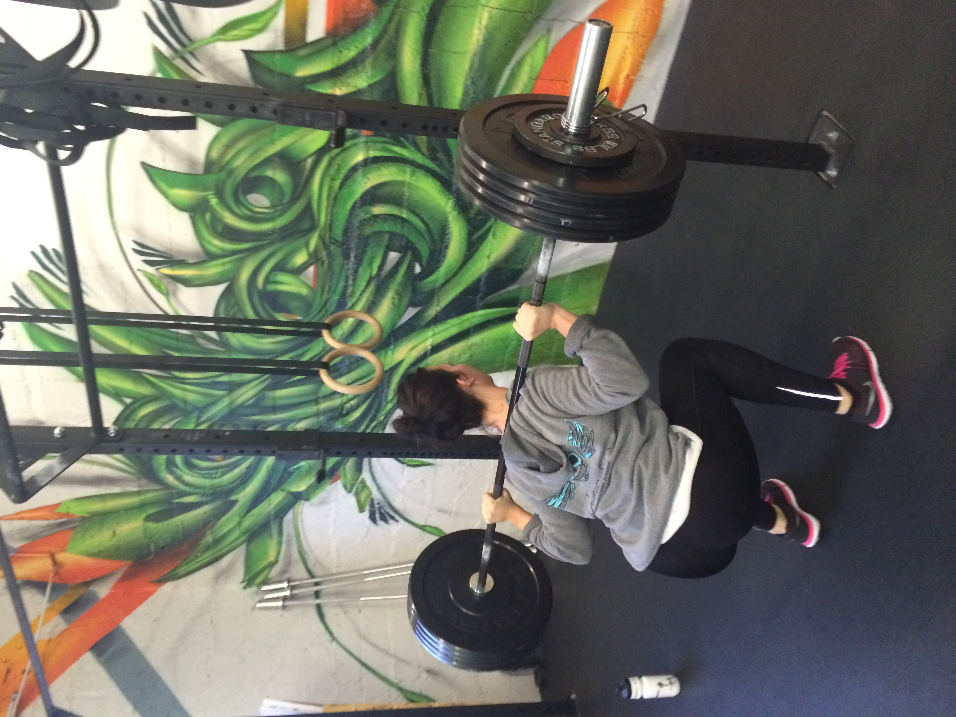 Sophie was getting deep on her back squats yesterday morning before most teenagers got out of bed.