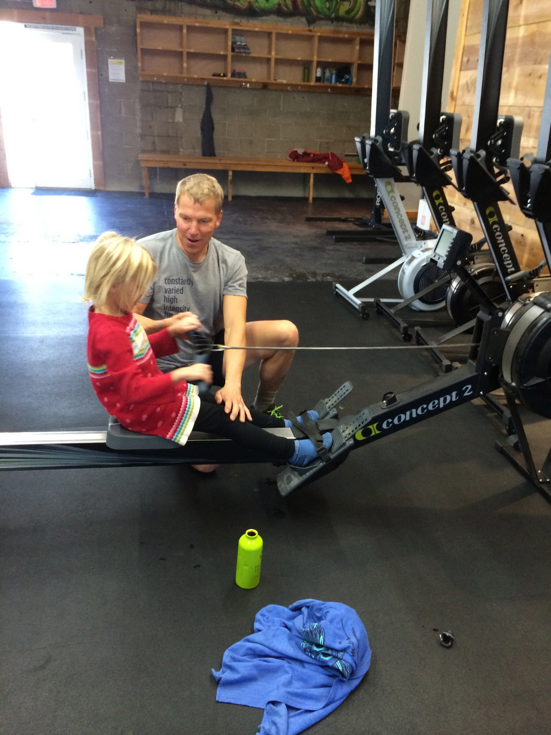 "Tom going ""Back to basics"" with betty on rowing technique."