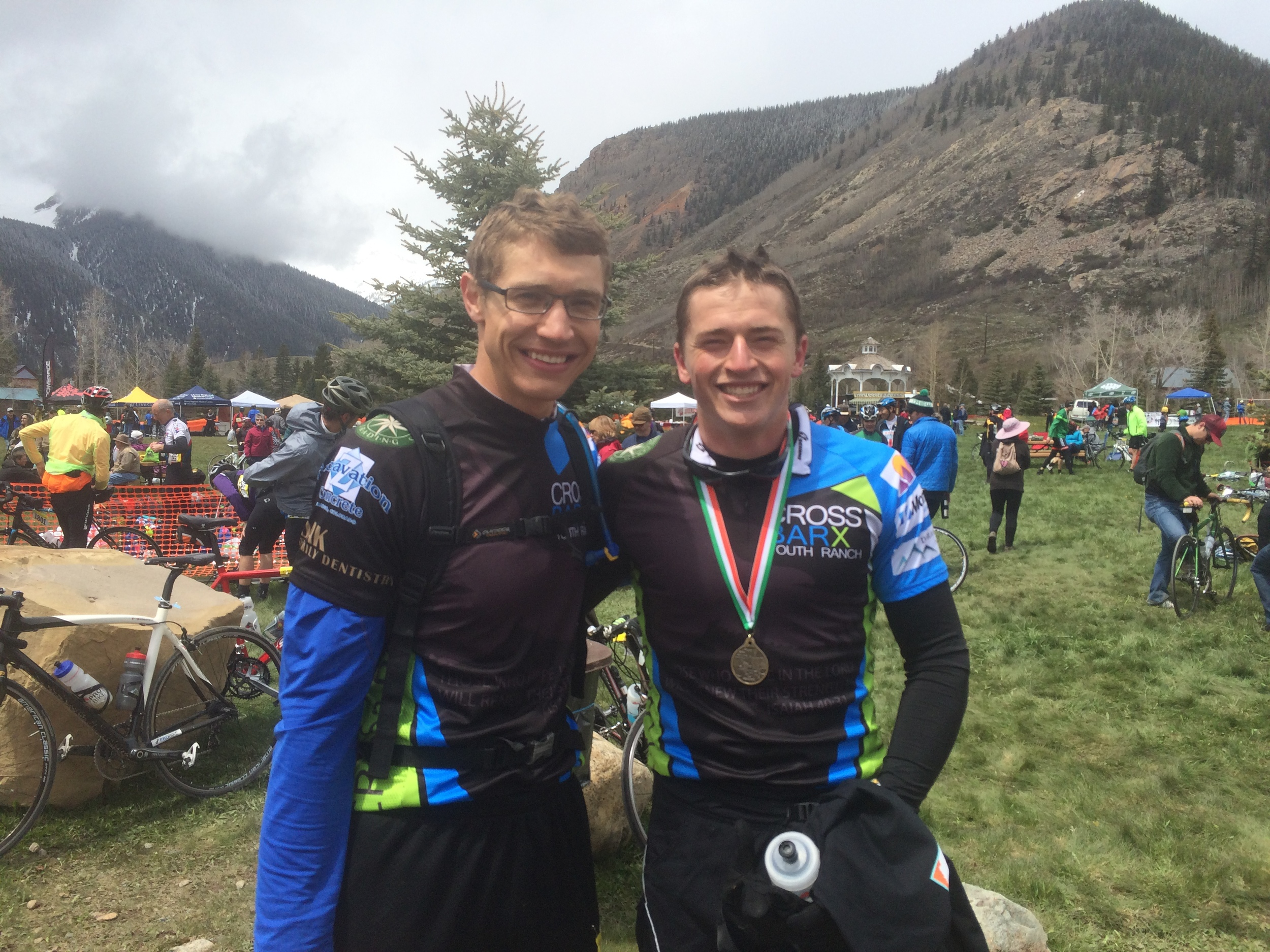 Dustin and Jacob found themselves in Silverton for the Iron Horse Bicycle Classic. They hadn't specifically trained for it, but we all know these boys put in the work in the gym.