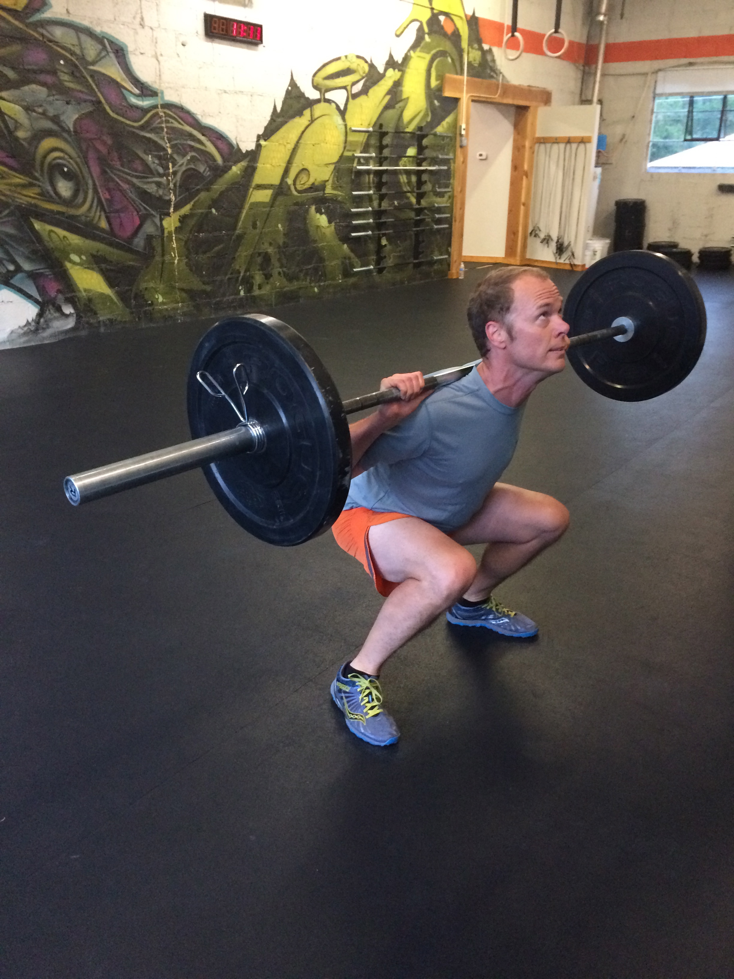 Darren showing off his depth in Death by Back Squats last week. Nicely done D!