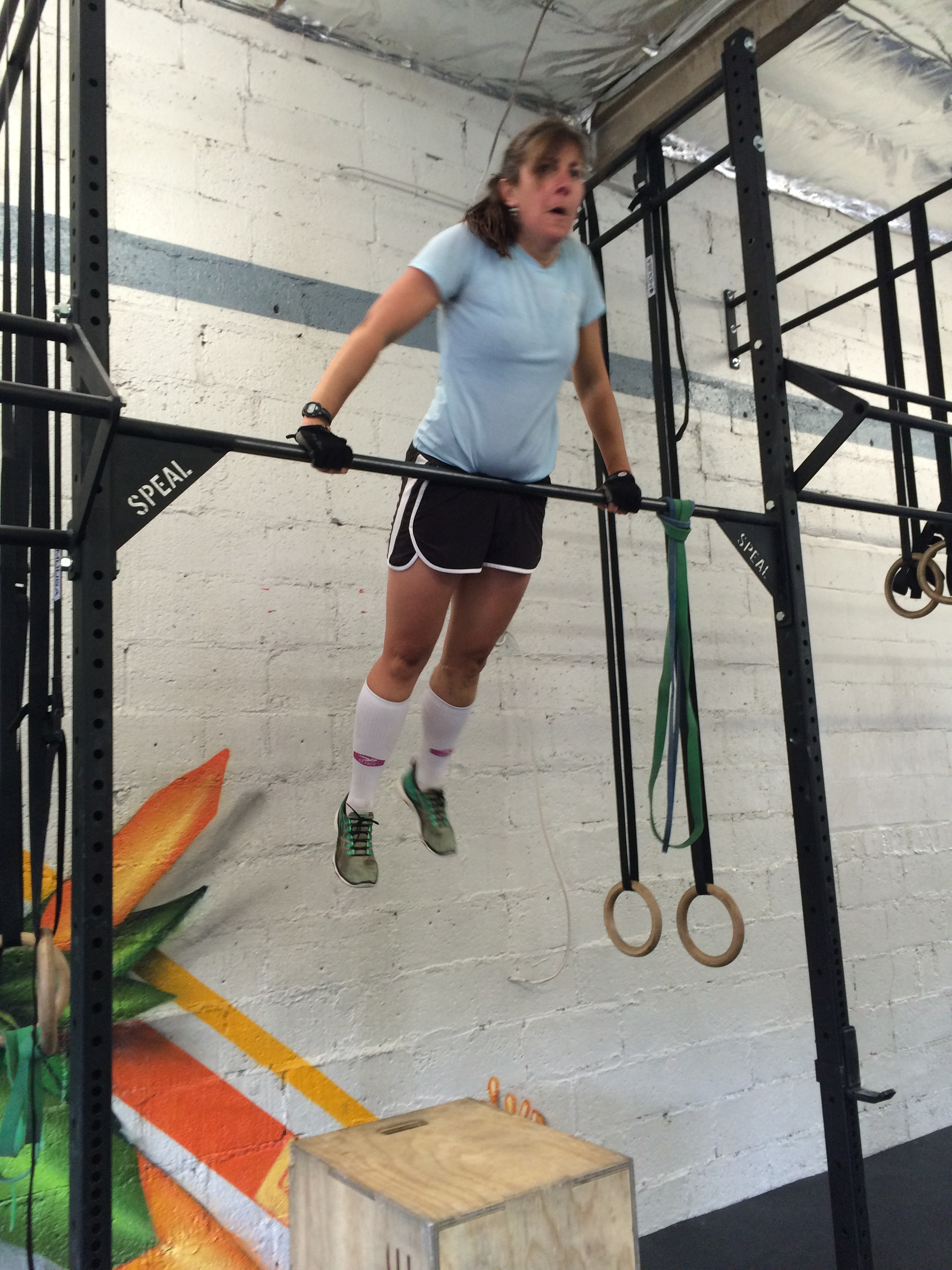 Anne surprised herself with her jumping muscle ups on tuesday.