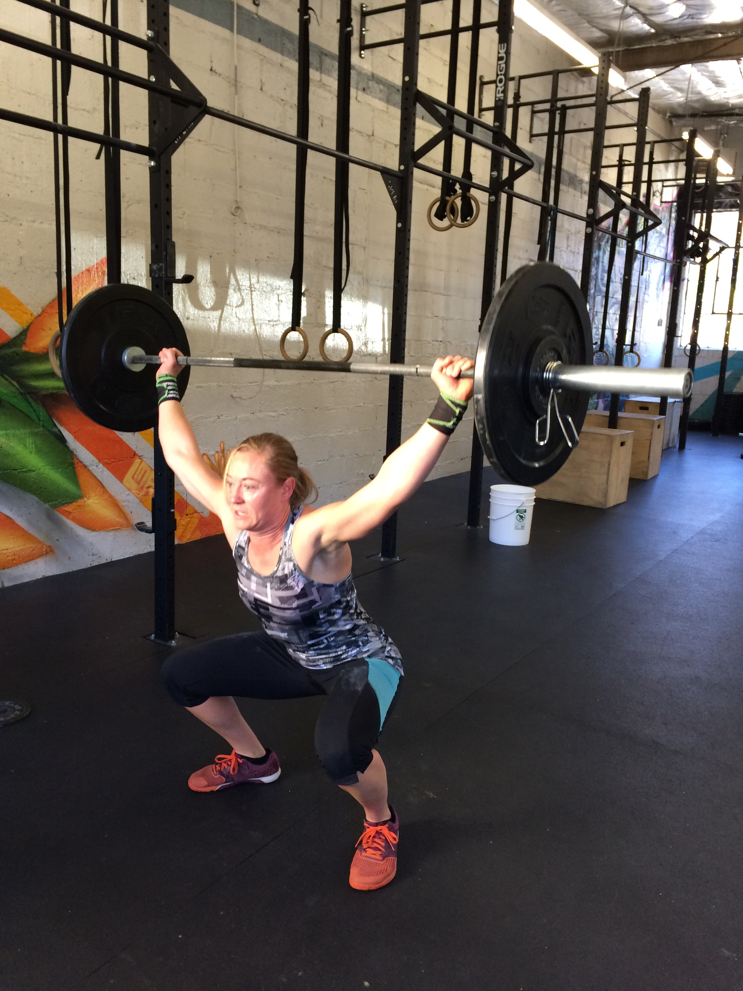 Welcome Amanda to the Catacombs family. Nice work on the squat snatches yesterday everyone.
