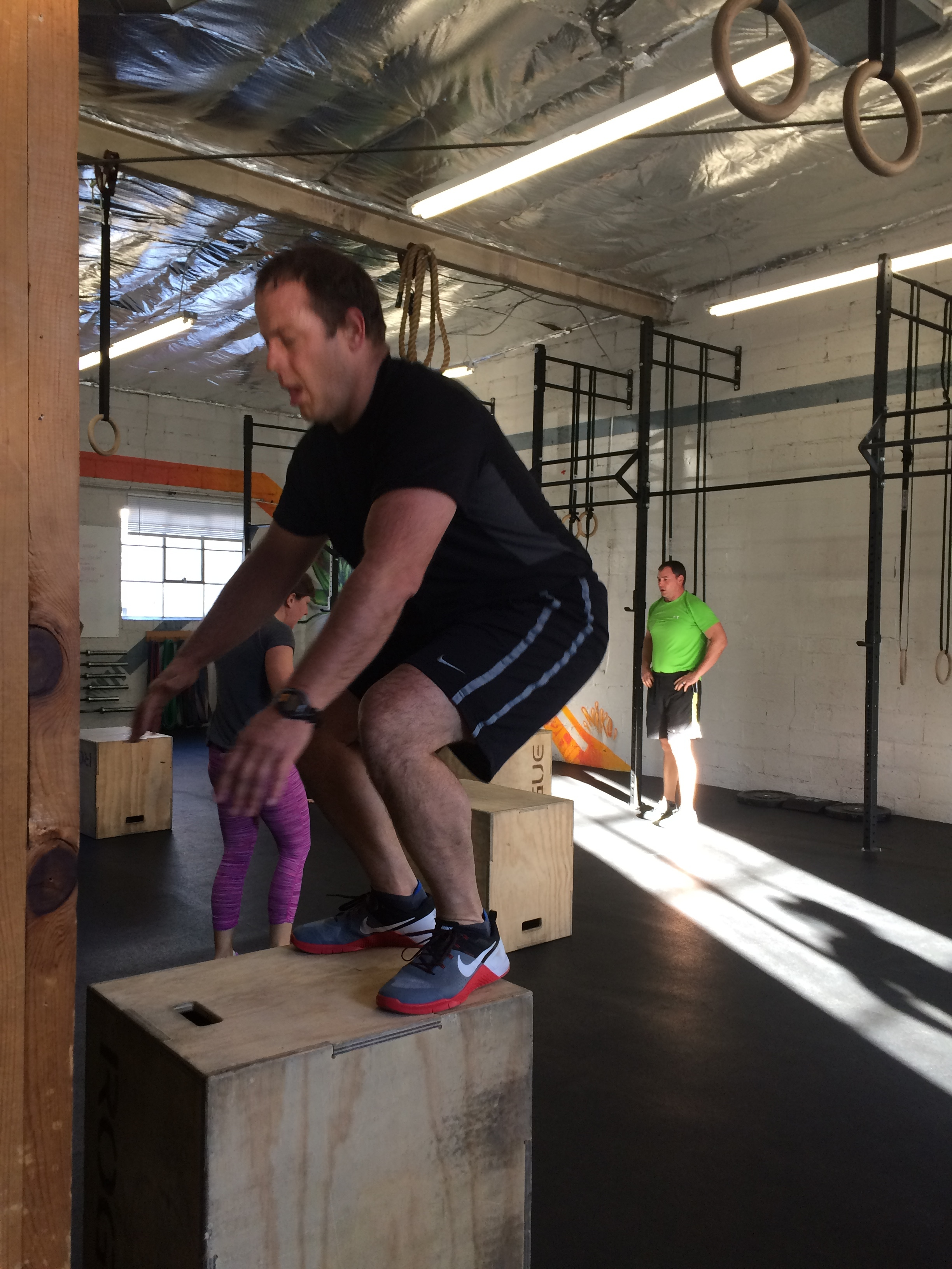 "Tons of you did 24"" and 30"" box jumps last week for the first time. great job stepping out of your comfort zone and pushing yourselves a little harder."
