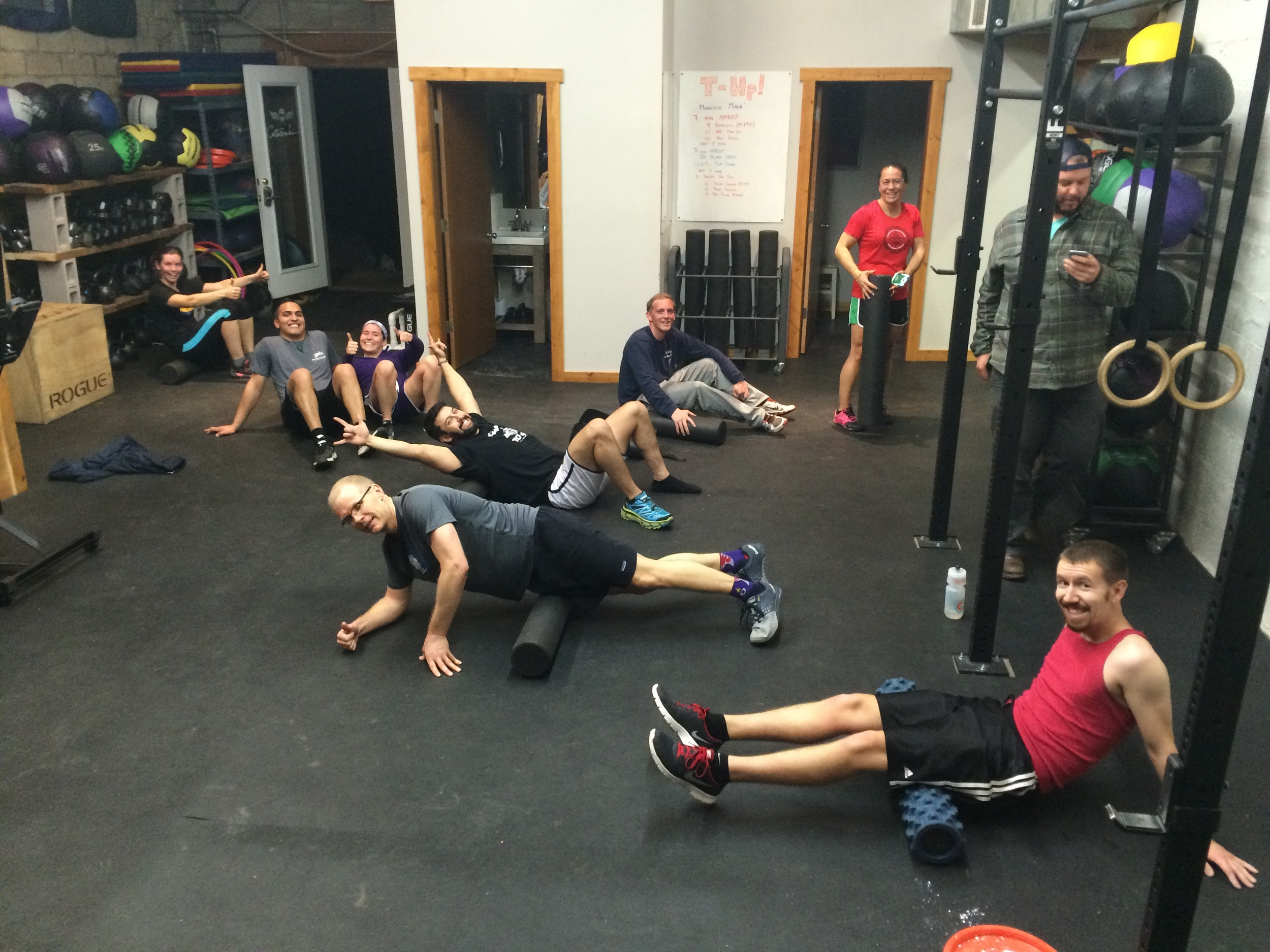 all smiles for post-workout mobility