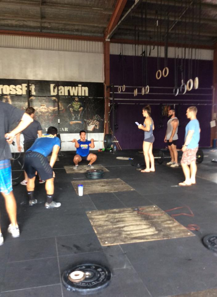 Some other members cheering me on during 16.2 on the heavy 225 cleans.The girl judging me in the grey is a beast! 2x Australian Regionals Qualifier. Samantha Drescher:235 c/j - 195 snatch