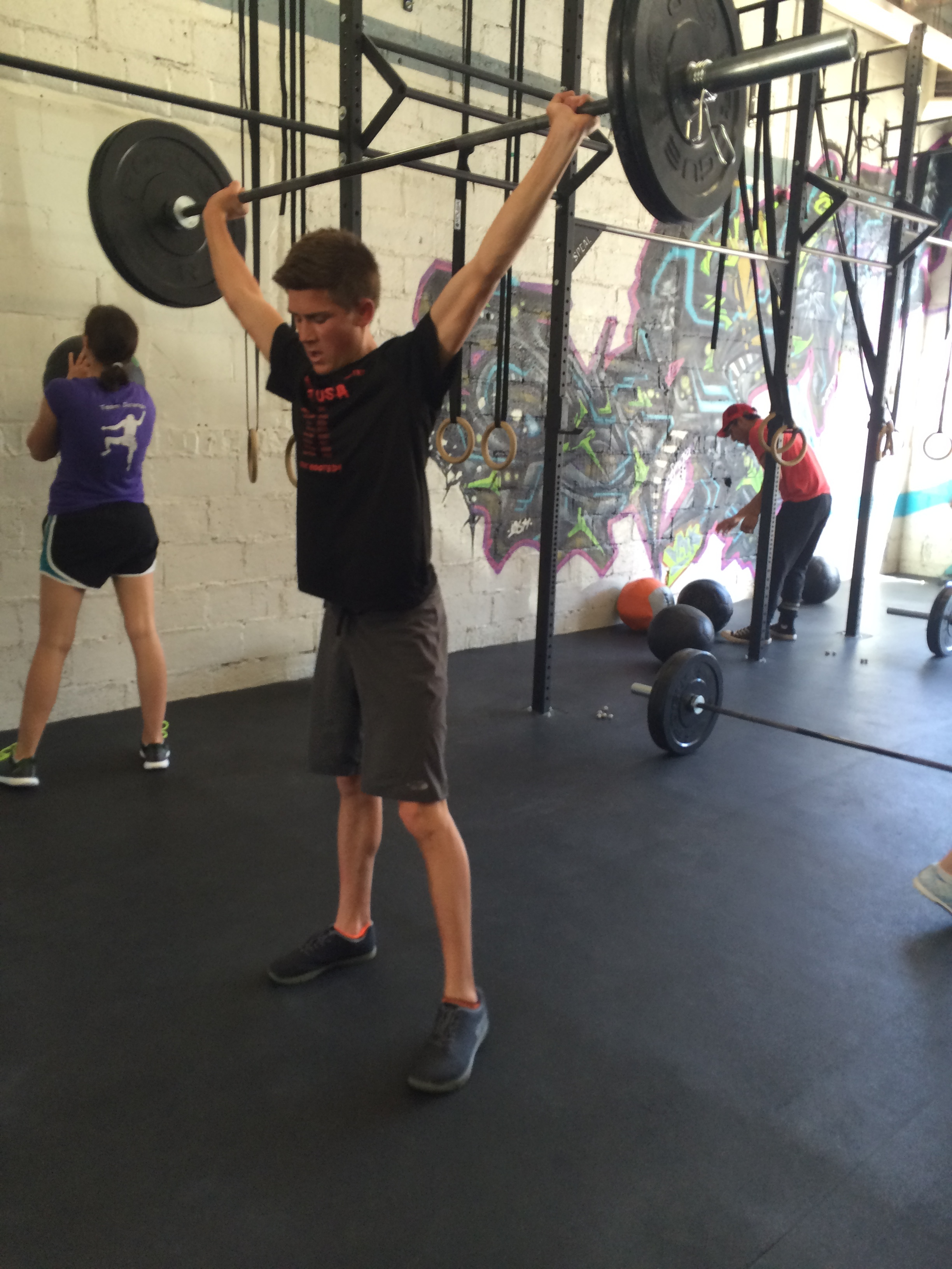 Jordan making easy work of heavy snatches this week.