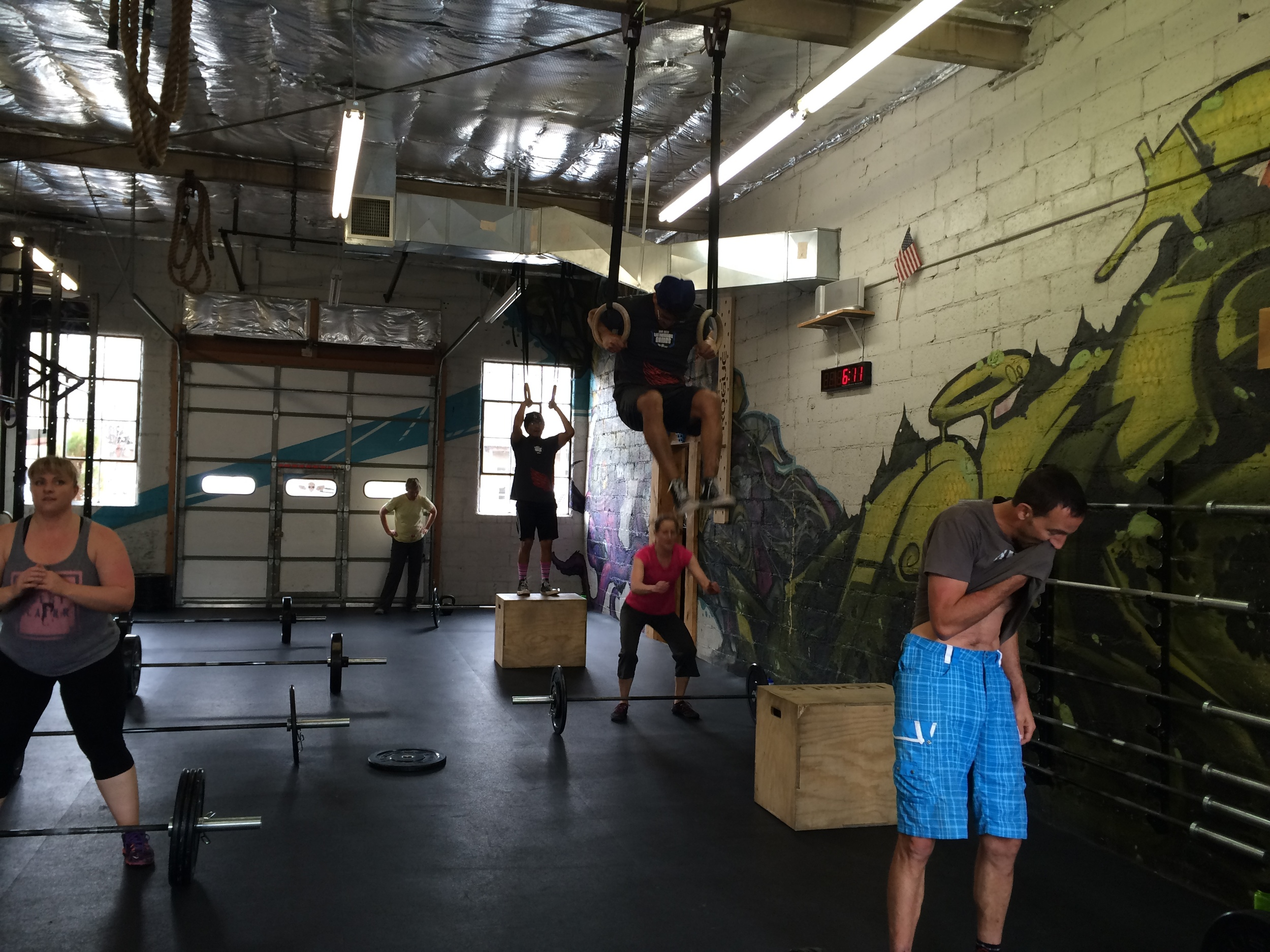 Lots of ground gained on muscle ups today.