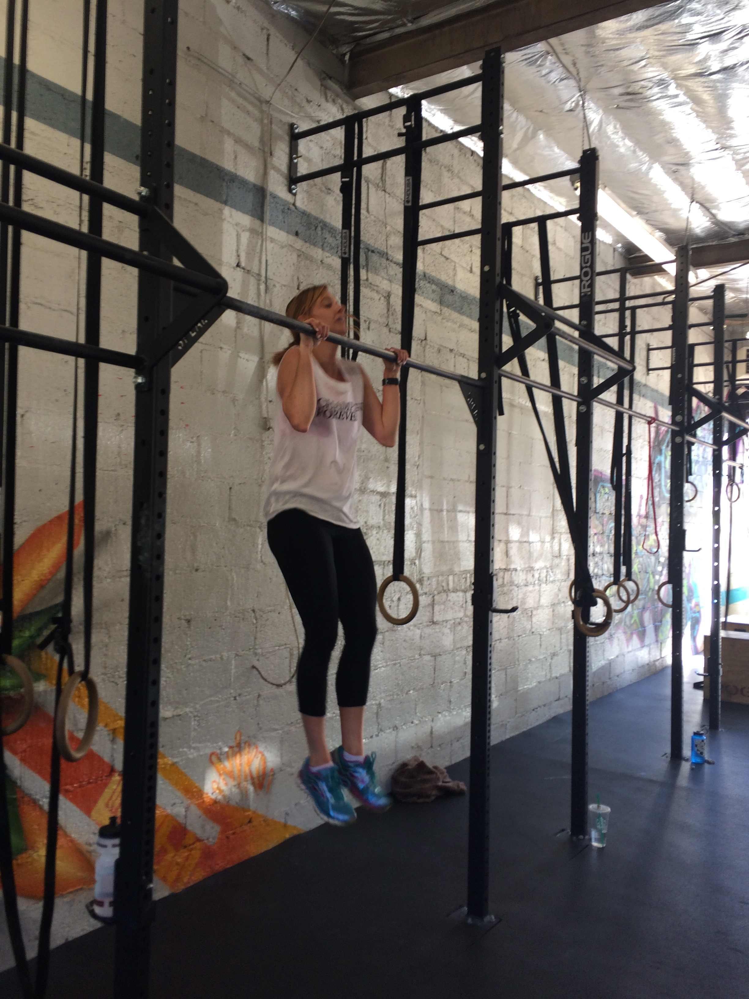 The No Band Pull Up club gained several new members last week. Shout outs to Jenna, Kristina, May, Beth, Jan and all the others that completed unbanded pull ups for the first time recently.