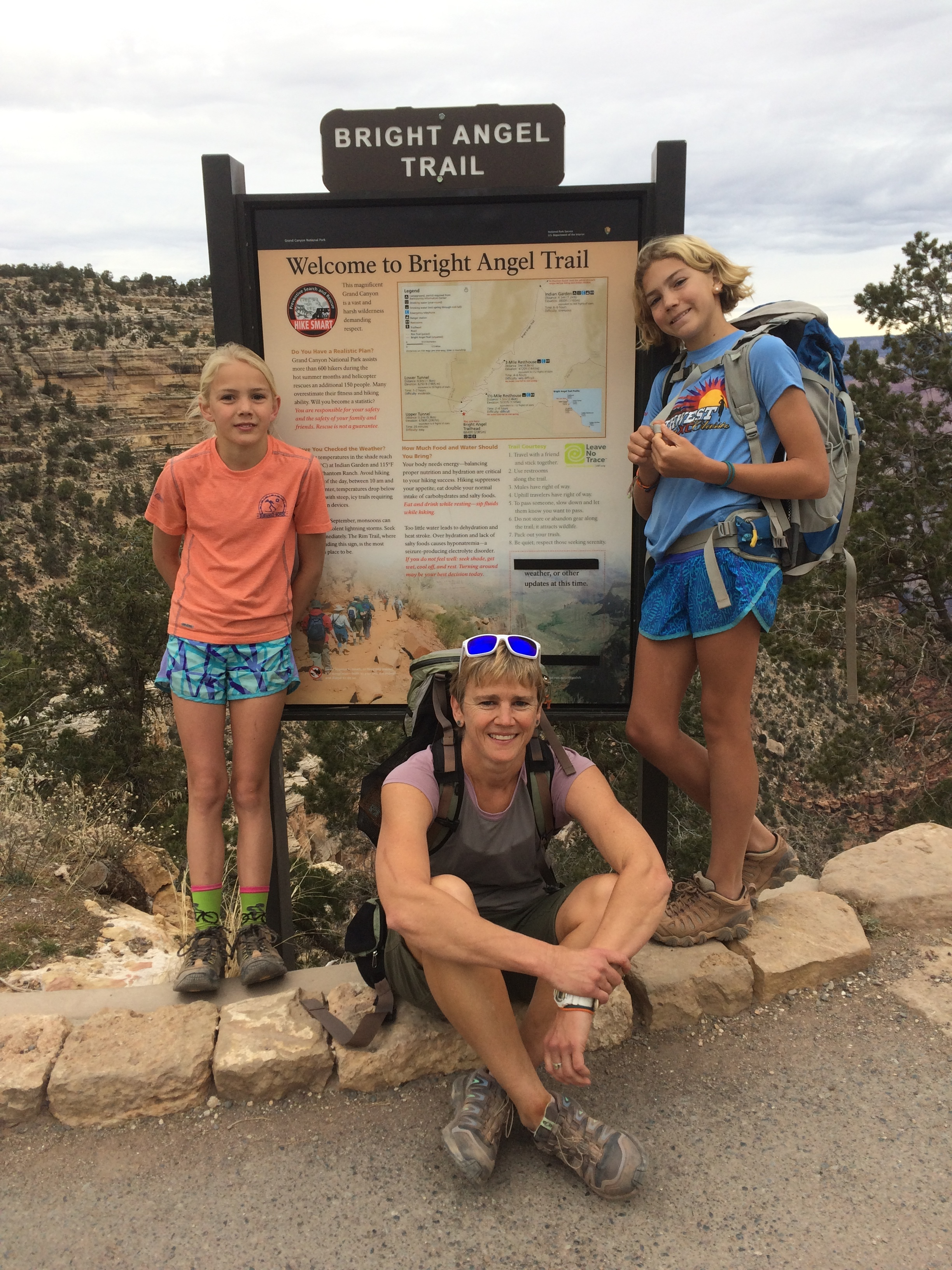 Grateful to have gotten to hike to the bottom of the Grand Canyon (and back) with these two turkeys.
