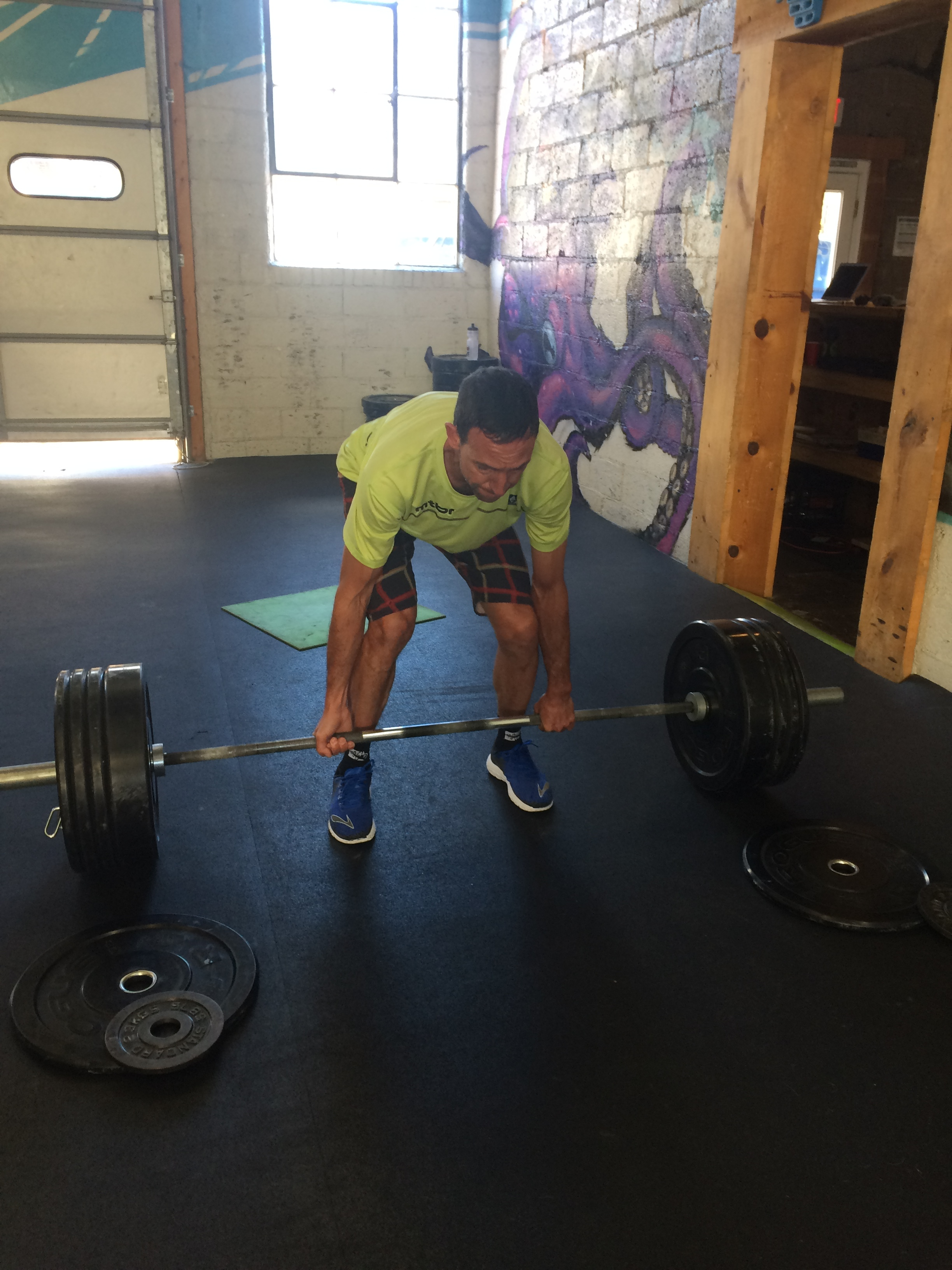 Fox hitting a new 1RM deadlift for about 30 reps in Tuesday's workout.