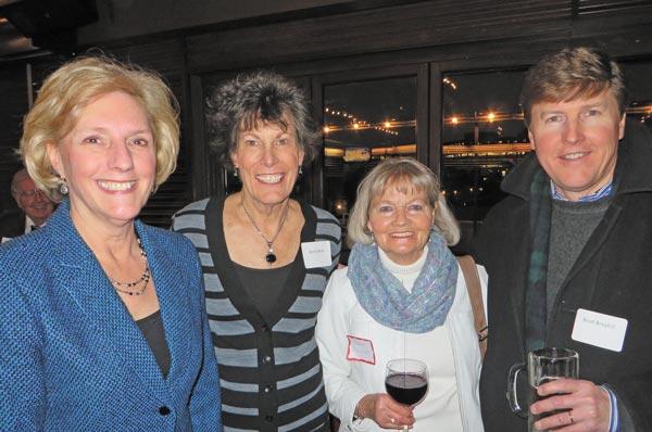 Commissioner Nancy Sharpe, former Greenwood Village City Councilwoman Karen Blilie, Jean Morrison and Brad Broyhill