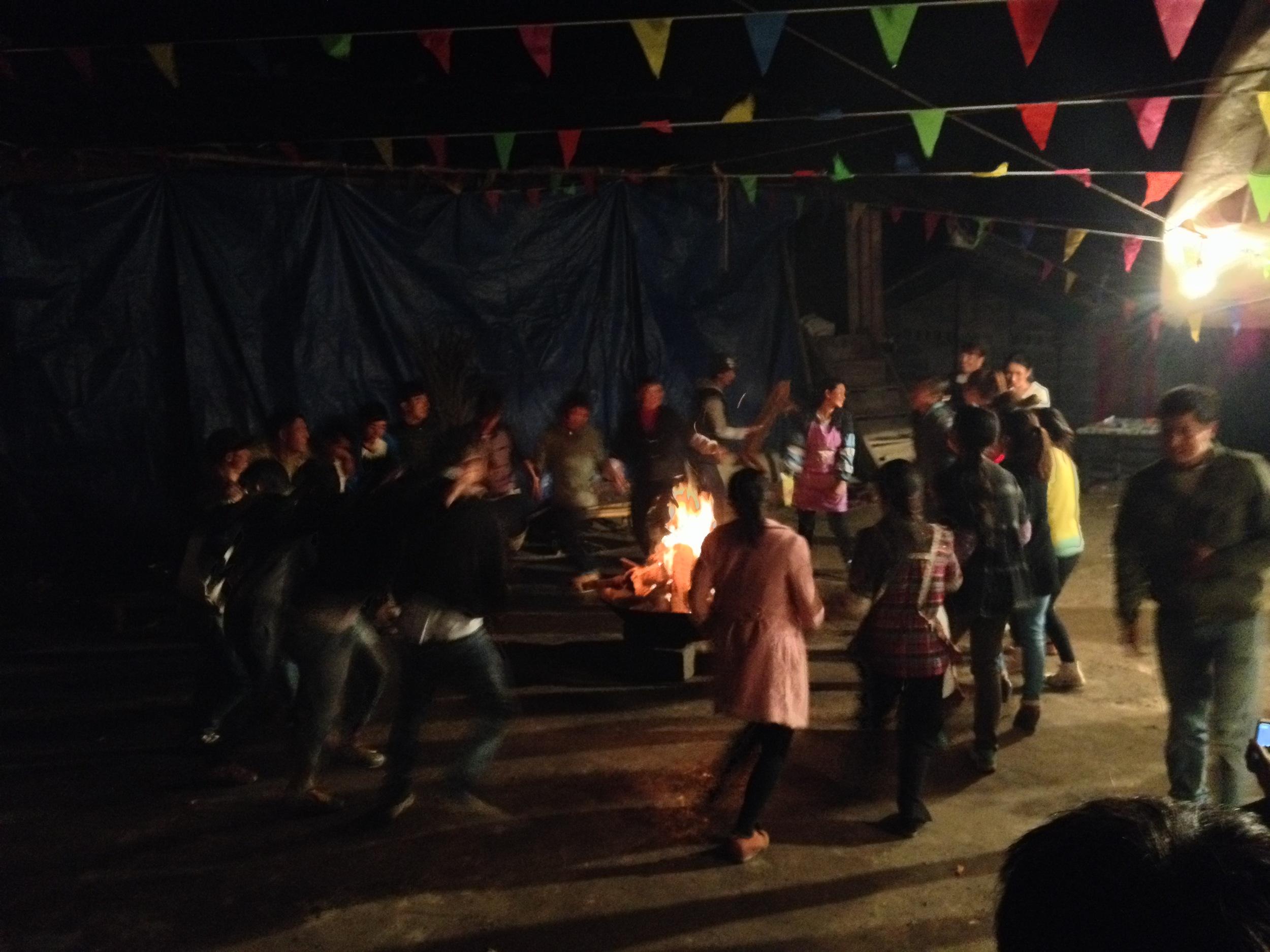 Naxi dance bonfire