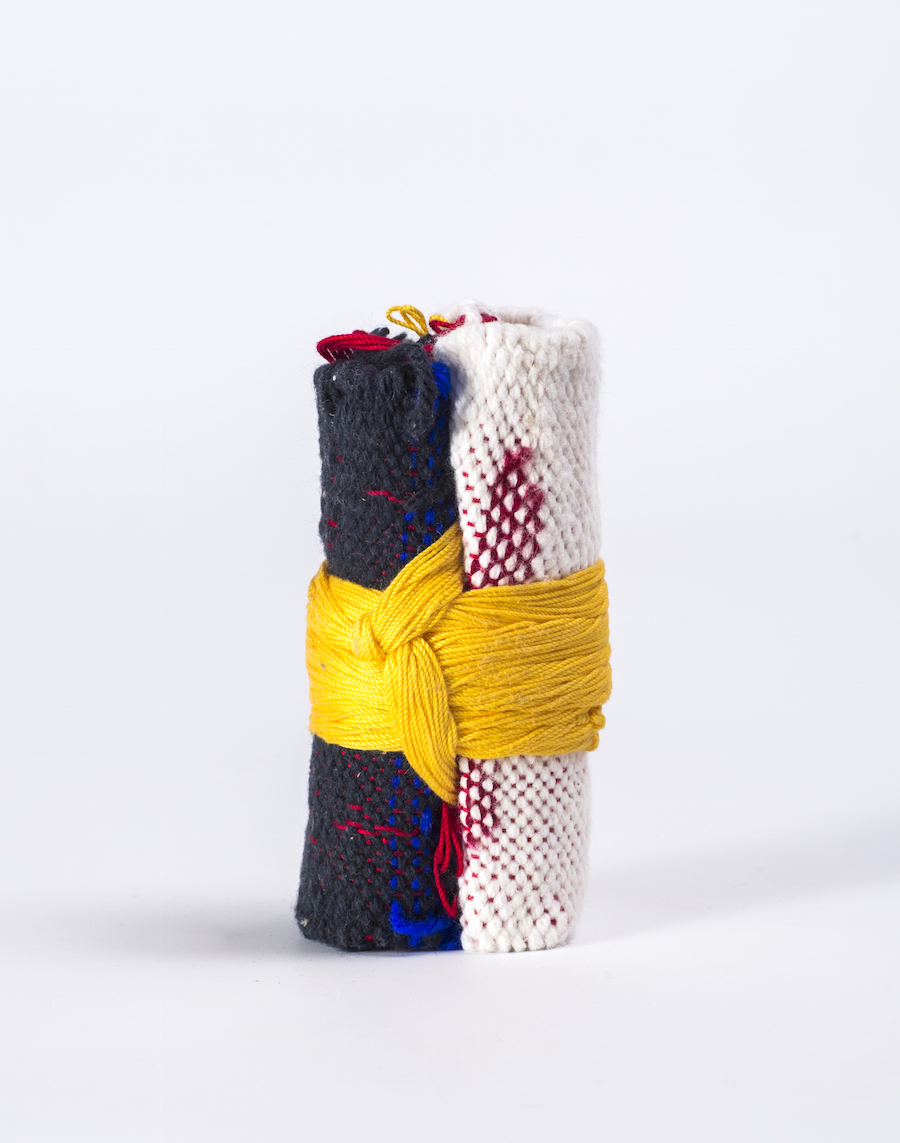 Weaving totem from interactive installation