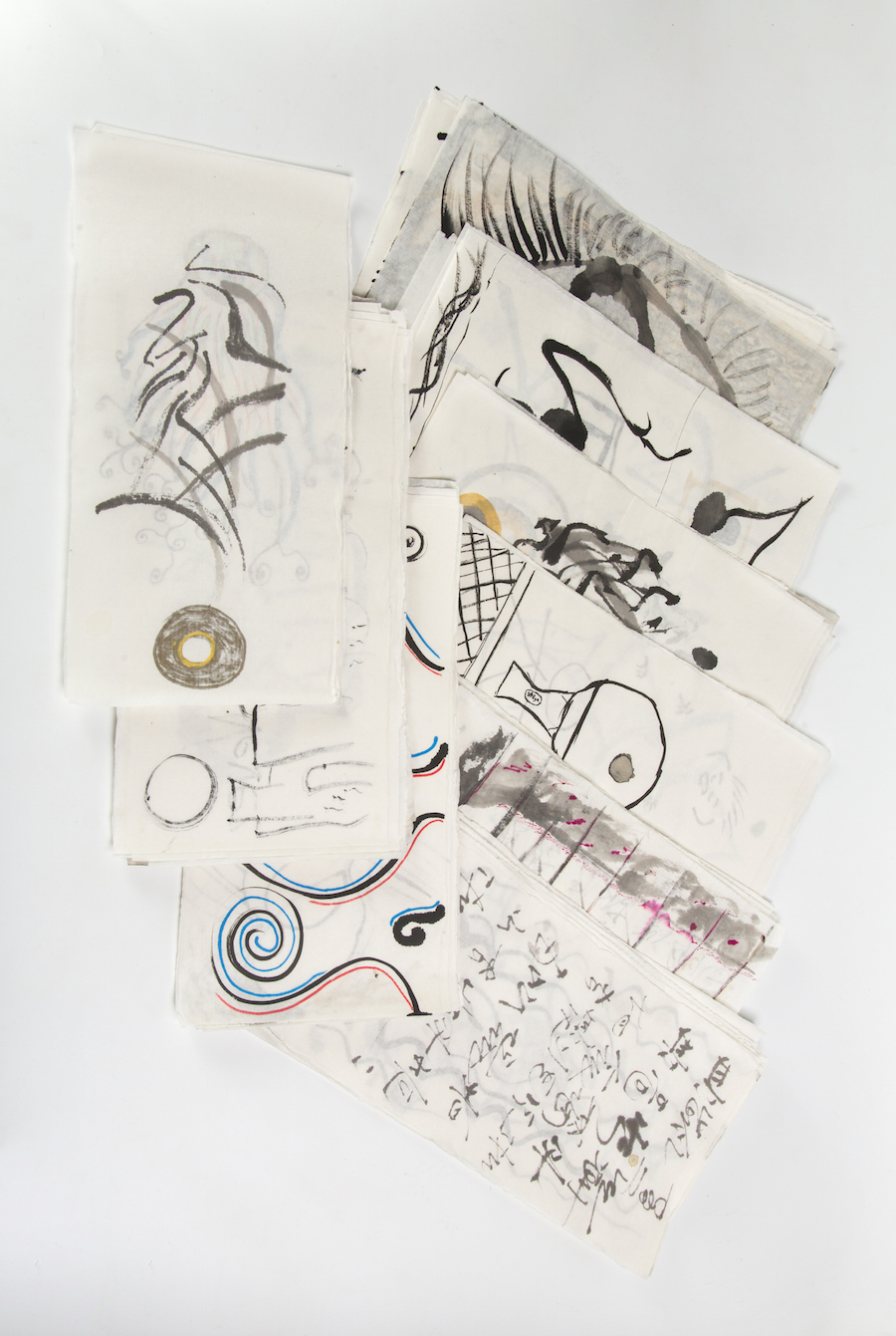 """""""174 Fire Drawings"""" assorted contributions from participants"""