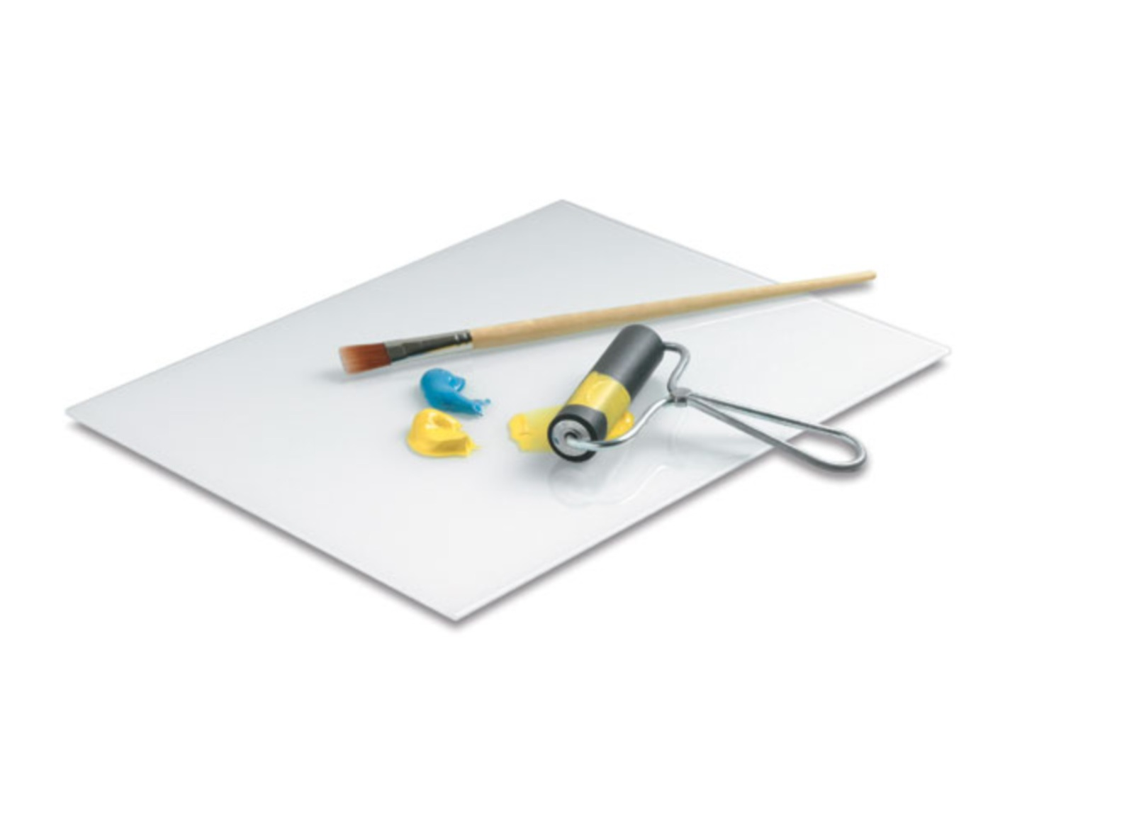 Amaco Paragona Glass Artist Palette - This is a pricier option, but works well if you plan on making large pieces that require a wide brayer.
