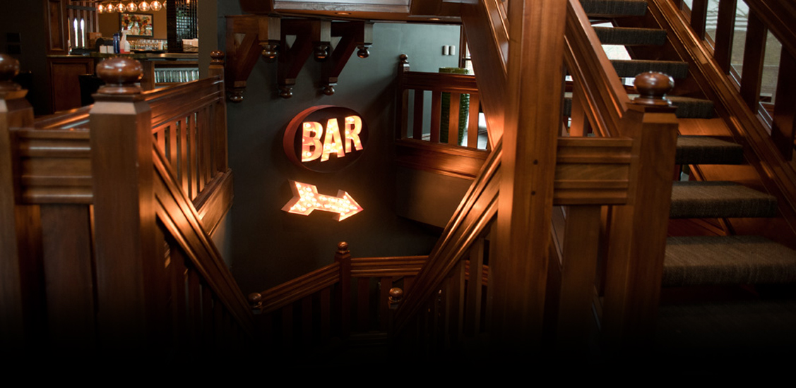 Follow the staircase down to the Pub and enjoy a casual bar atmosphere.