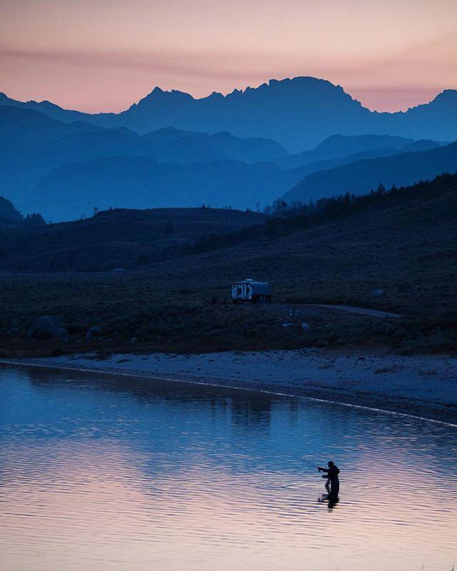 Fishing season has already begun! #visitpinedale #nomadlife #ontheroad