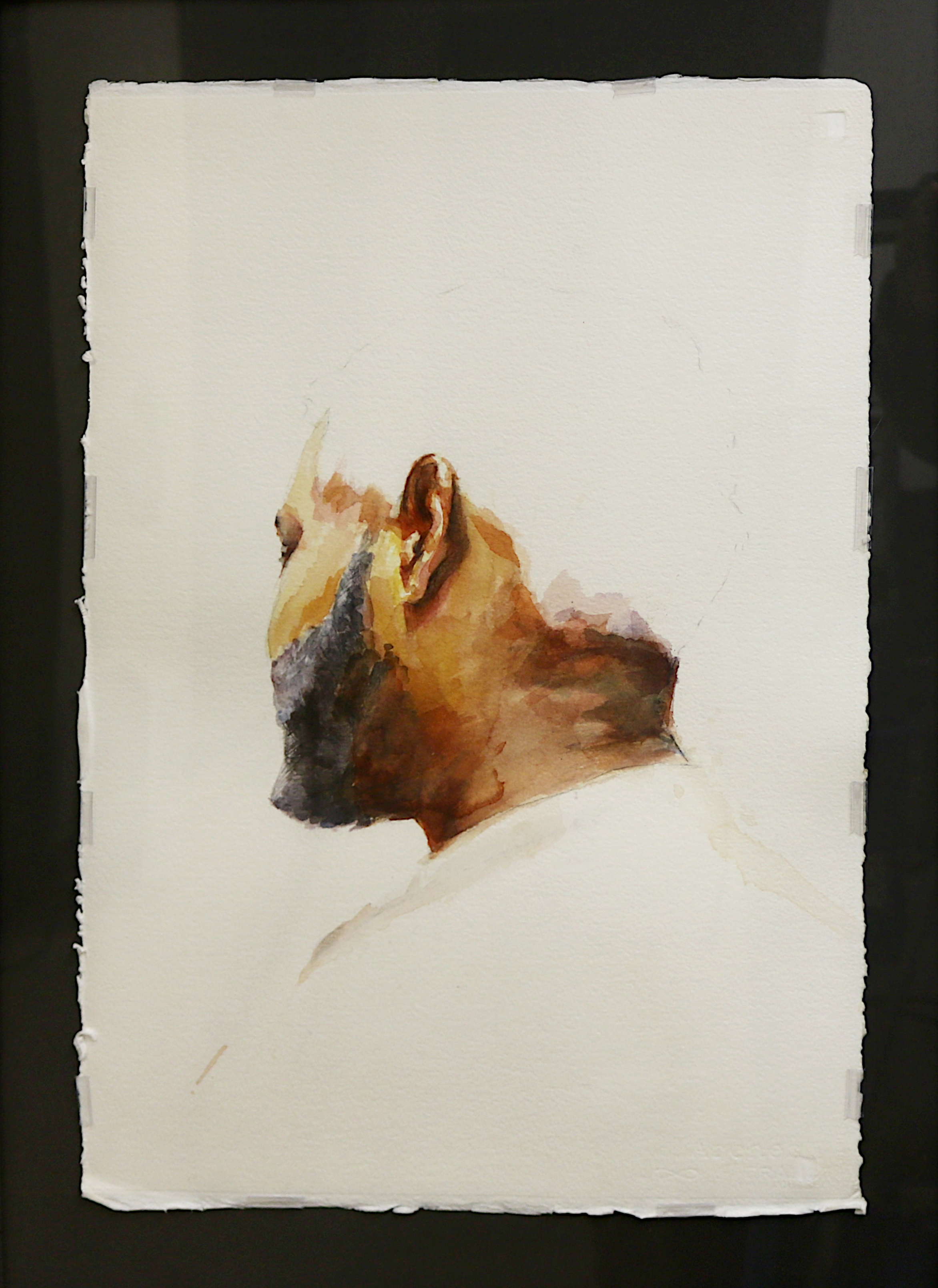 Justin Bryant   Untitled #12 (Man with White Hair #2)   Watercolor