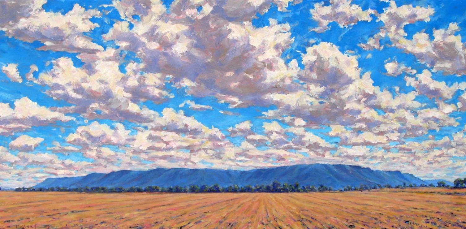 David Mudrinich   Across Atkins Bottom   Oil on Canvas