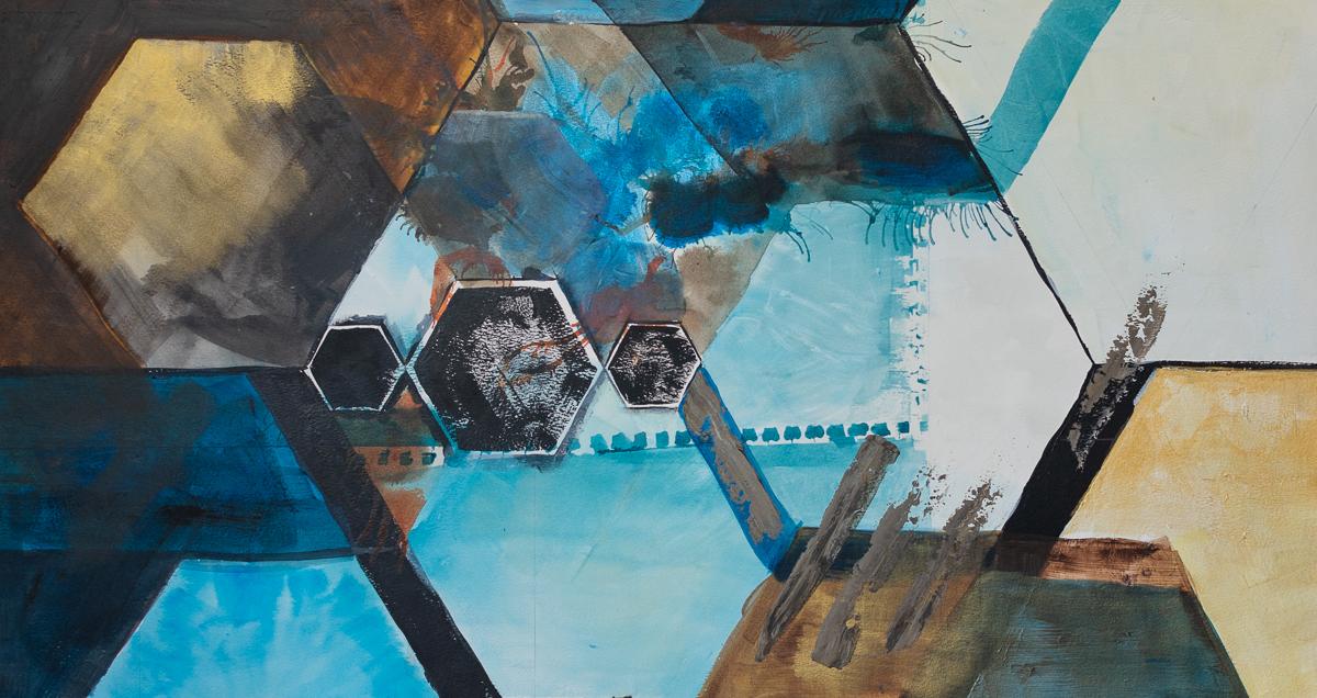 Josh McCallister   Hexagons   Mixed Media