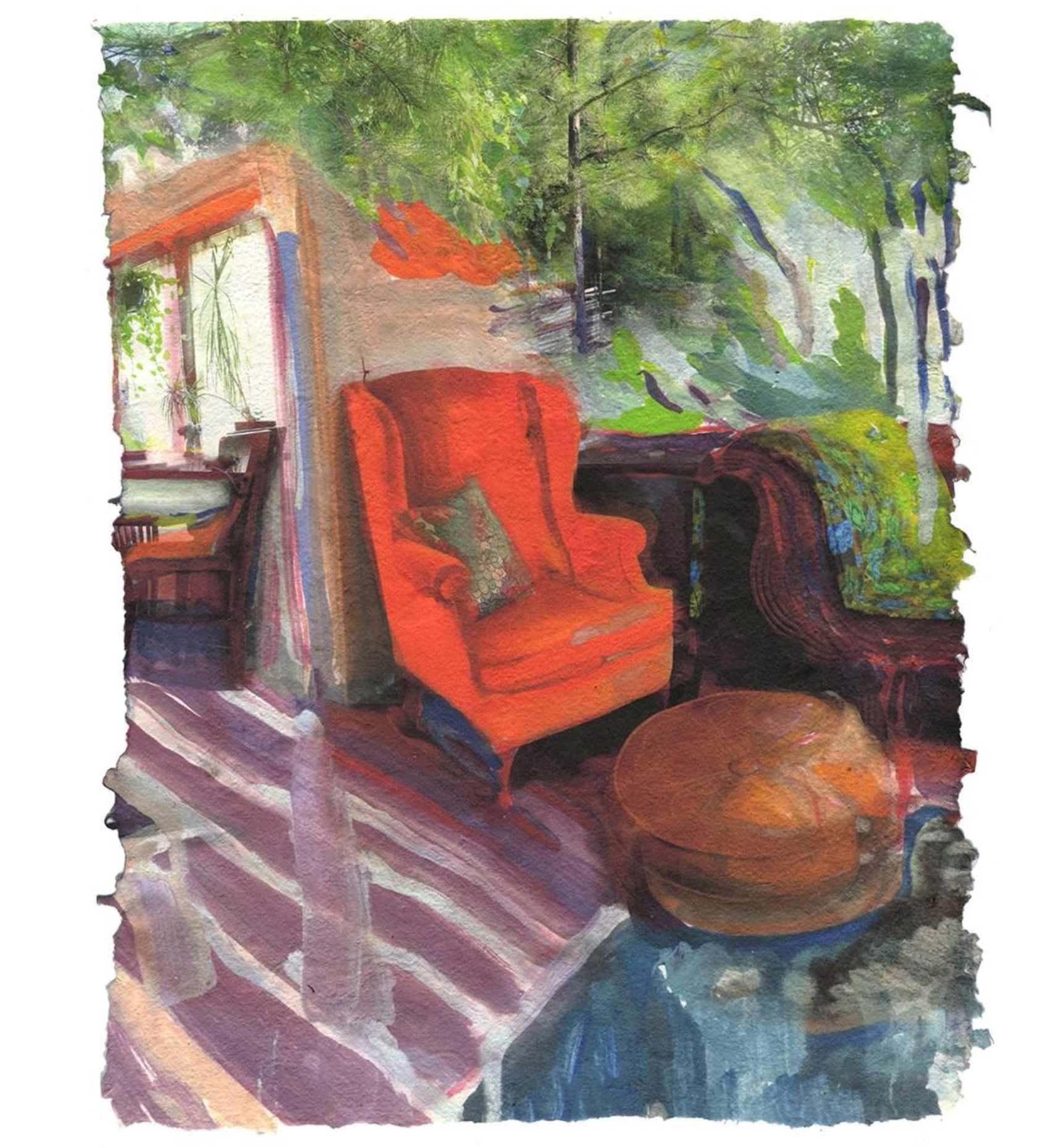 Melissa Cowper Smith   Dawn's Chair   Pigment Print on Handmade Paper