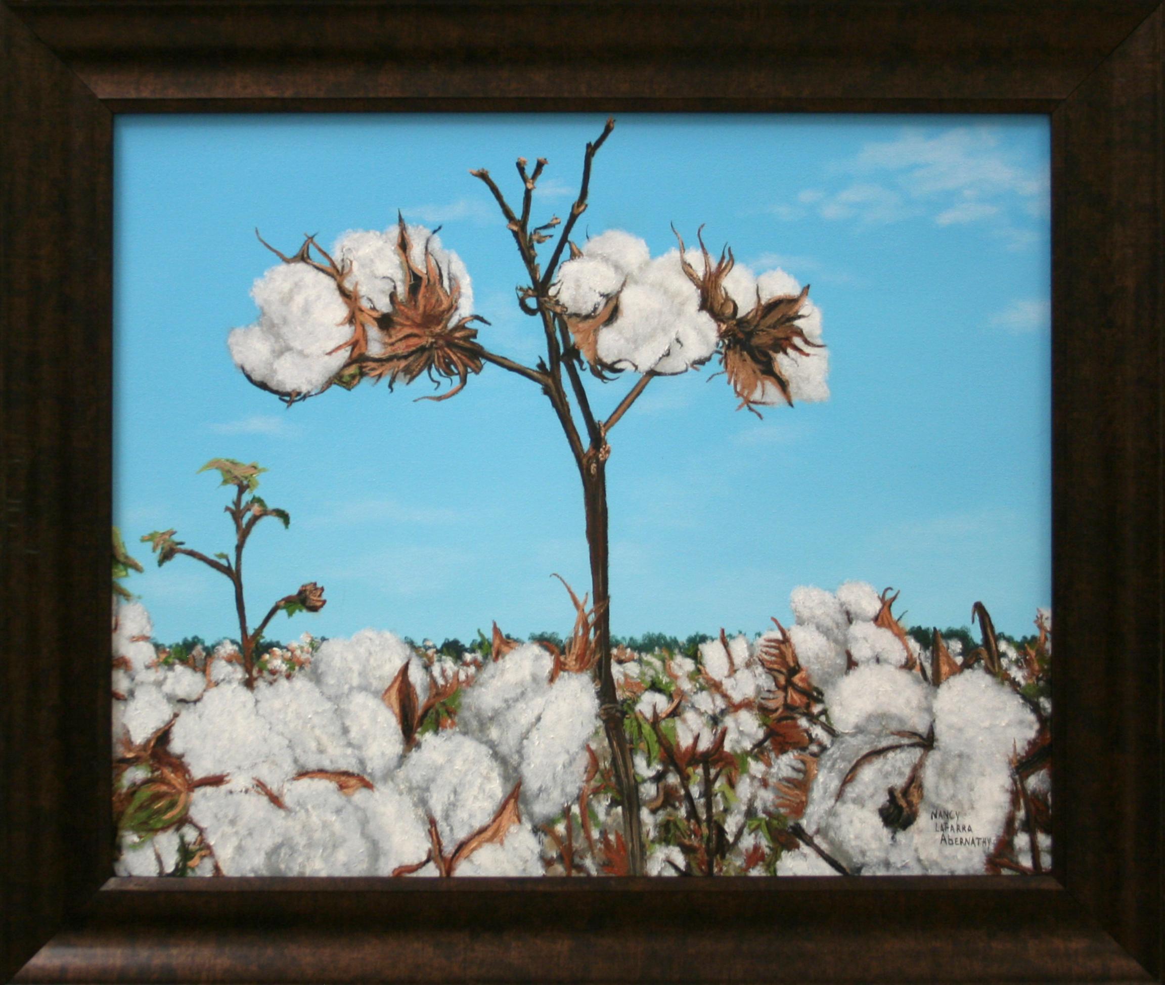 Nancy Abernathy   Cotton Pickin' Time   Oil Paint