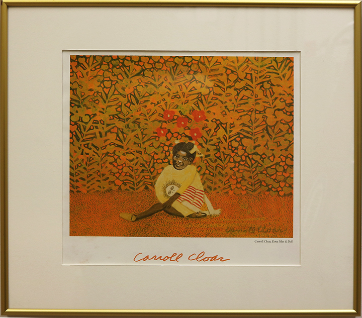 """Carroll Cloar, """"Emma Mae & Doll"""" vintage print"""