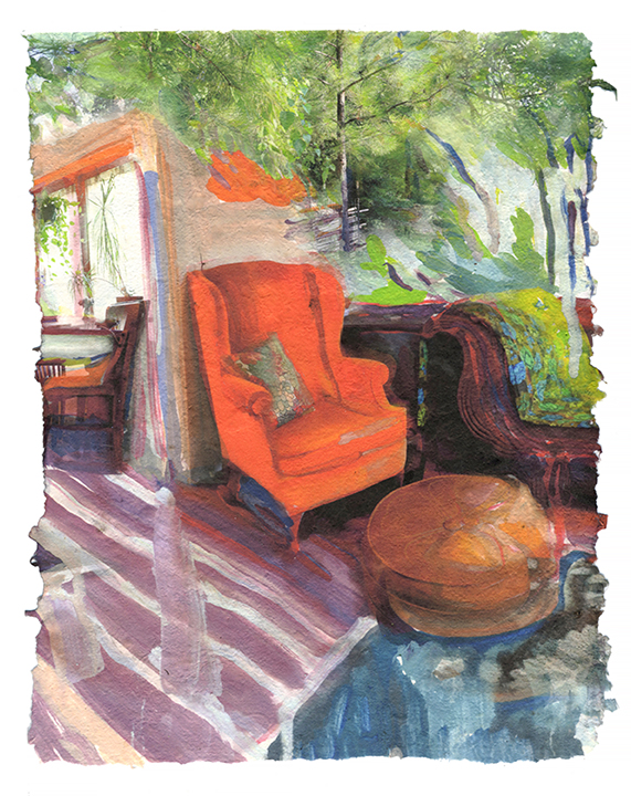 "Melissa Cowper-Smith, ""Dawn's Chair"""