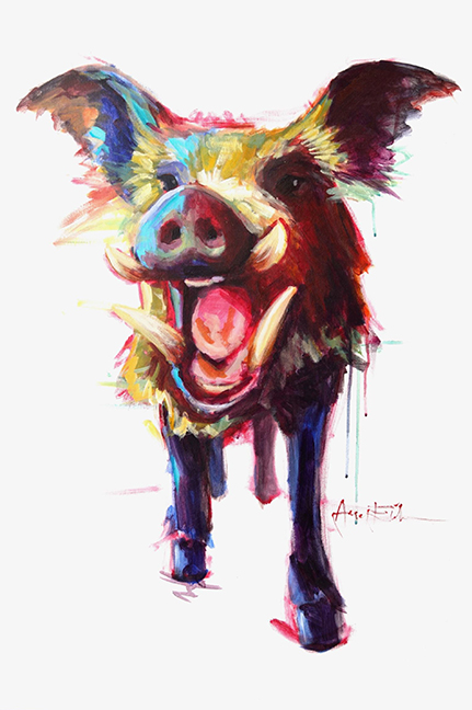 "Amy Eichler, ""Roxie the Wild Boar"""