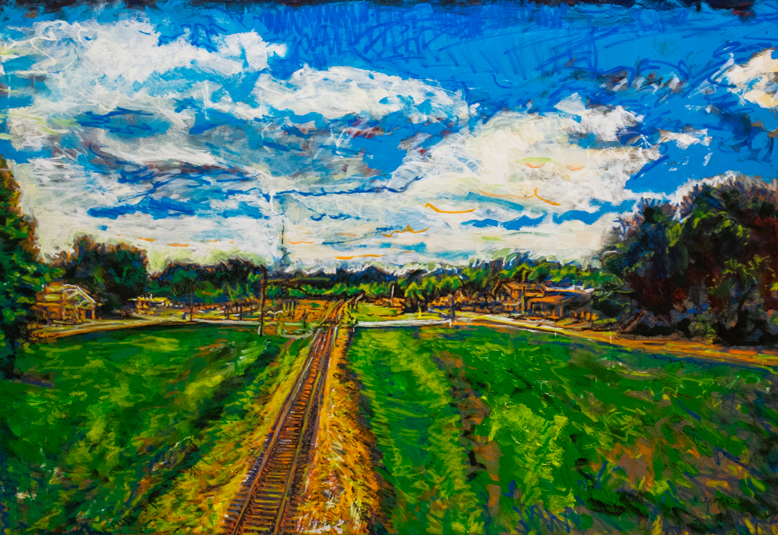 "John Kushmaul, ""Redfield Tracks Looking South"""